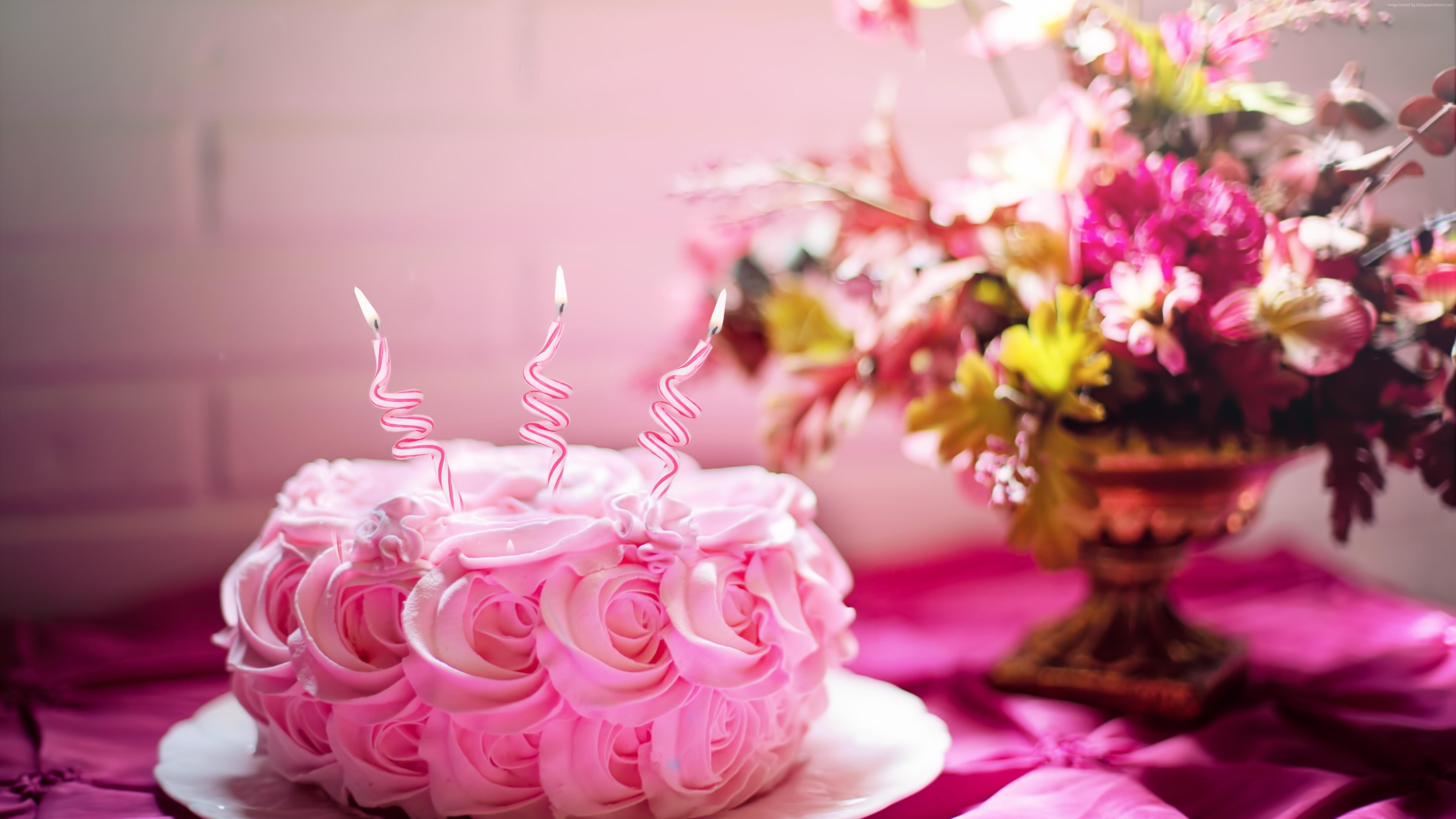 Добрым, открытки с днем рождения с тортиком и цветами