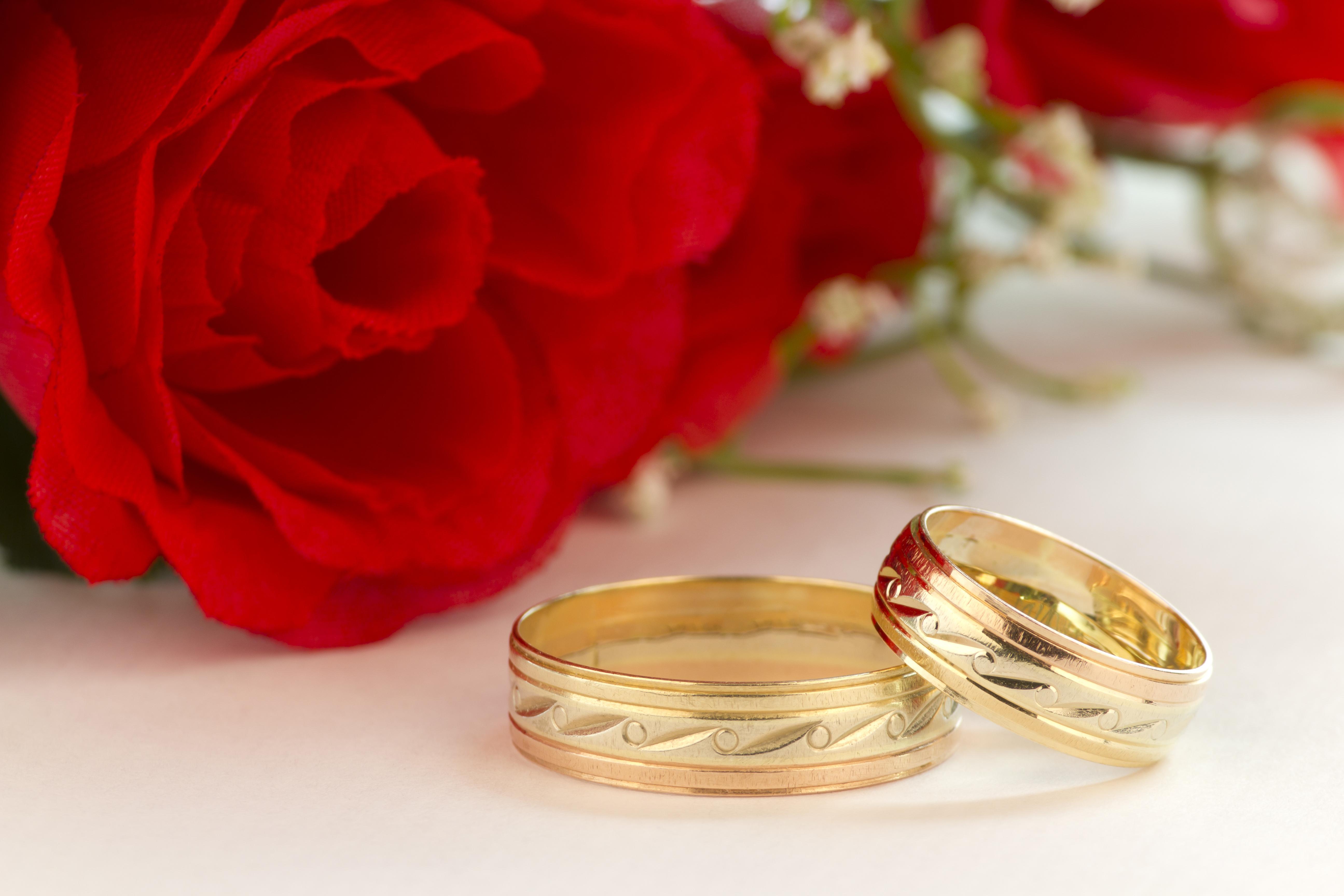 Открытки свадебных колец