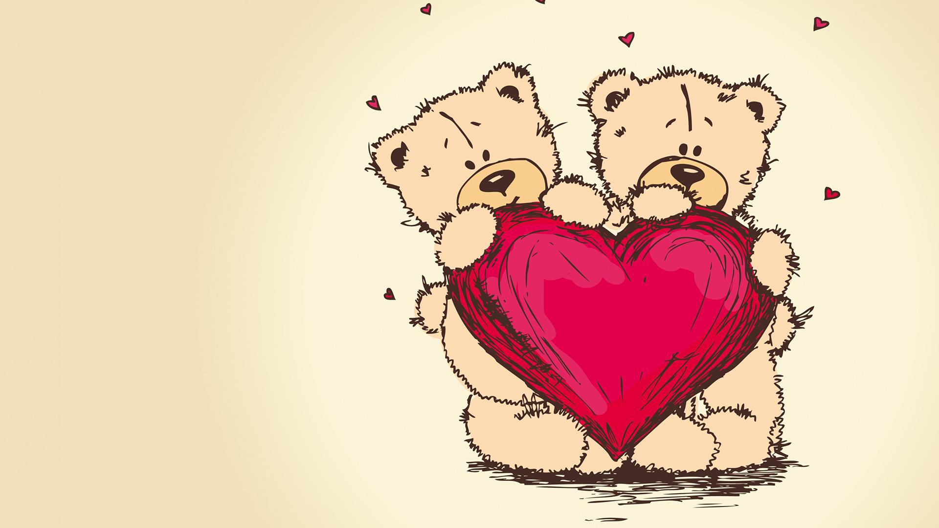 Teddy bear with love heart