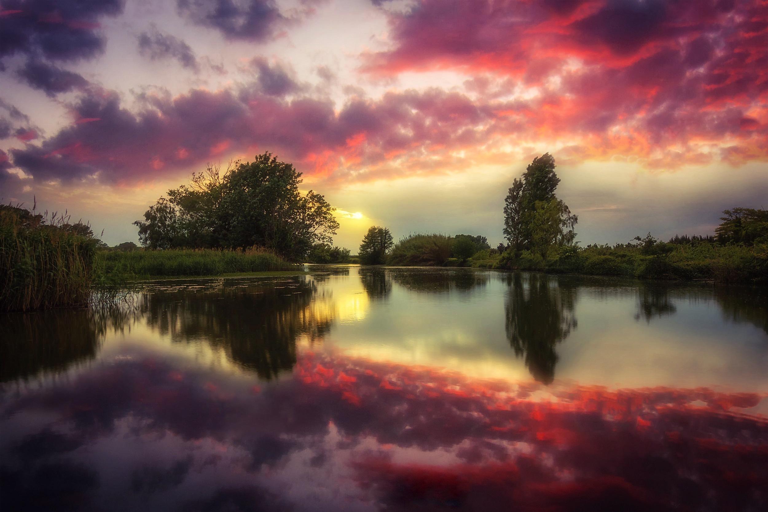 Картинки отражение в воде природы