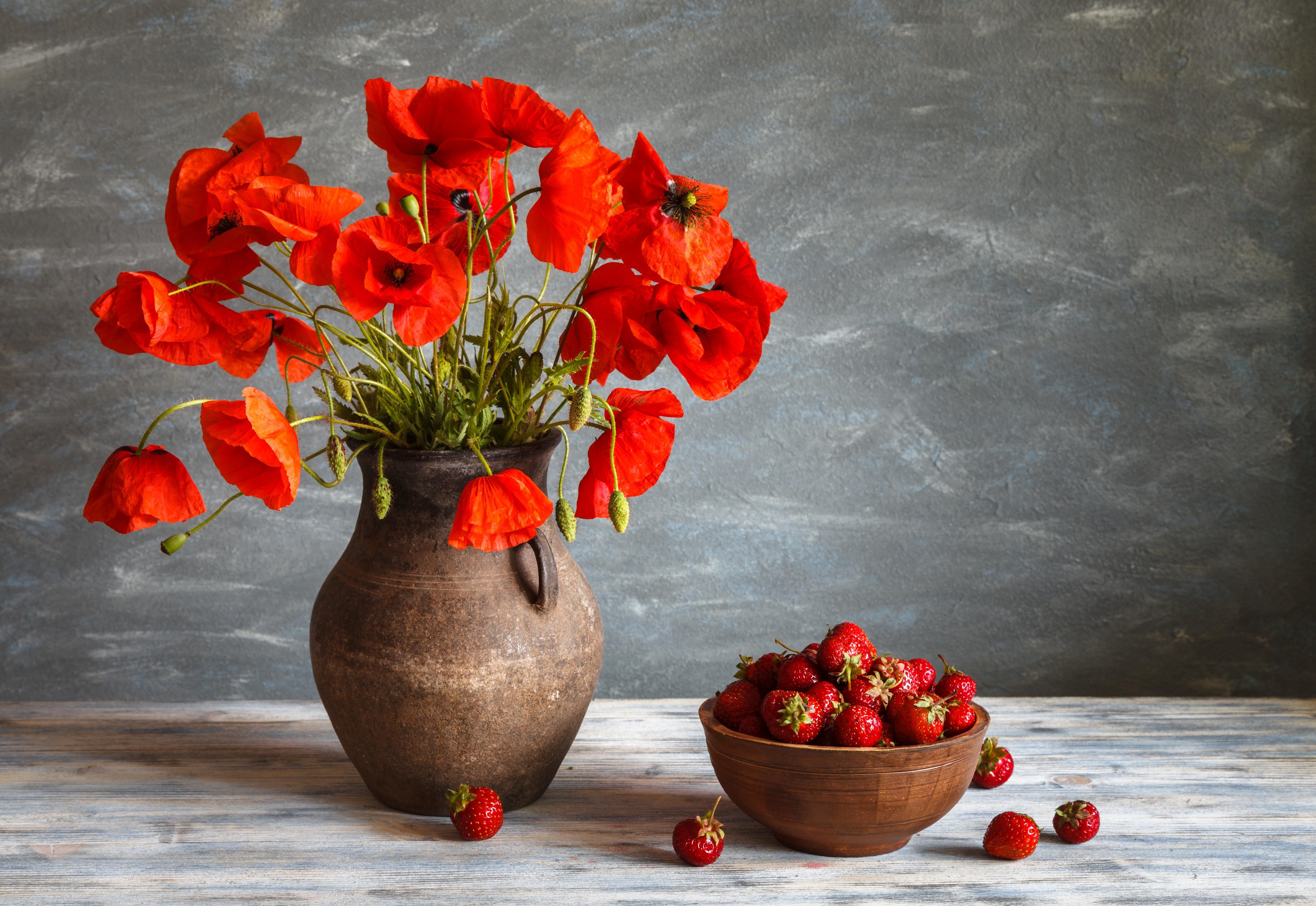 Поздравительной открытки, красивые картинки с вазами цветов