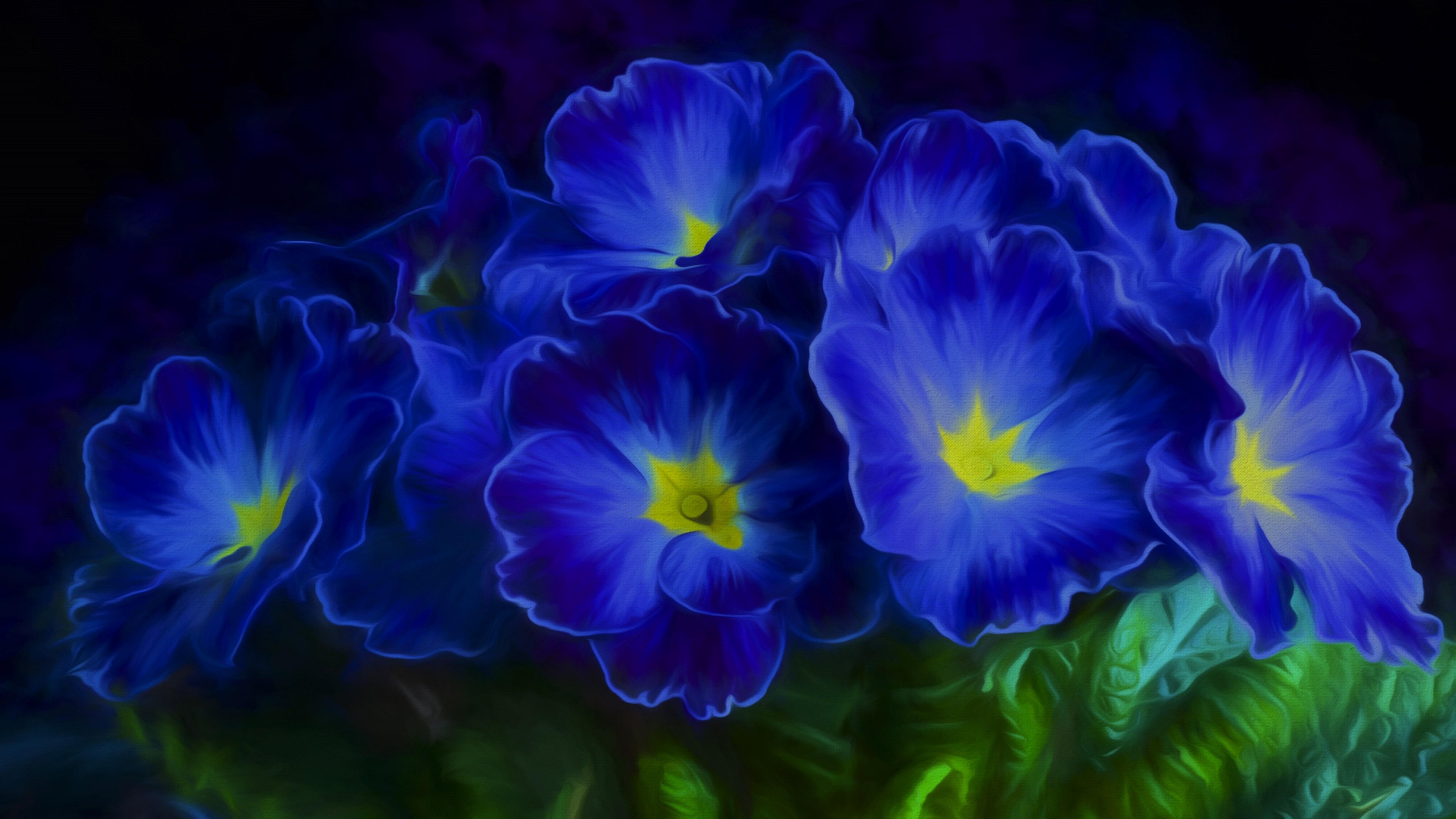 Картинка с синими цветами необычная прямой ссылке