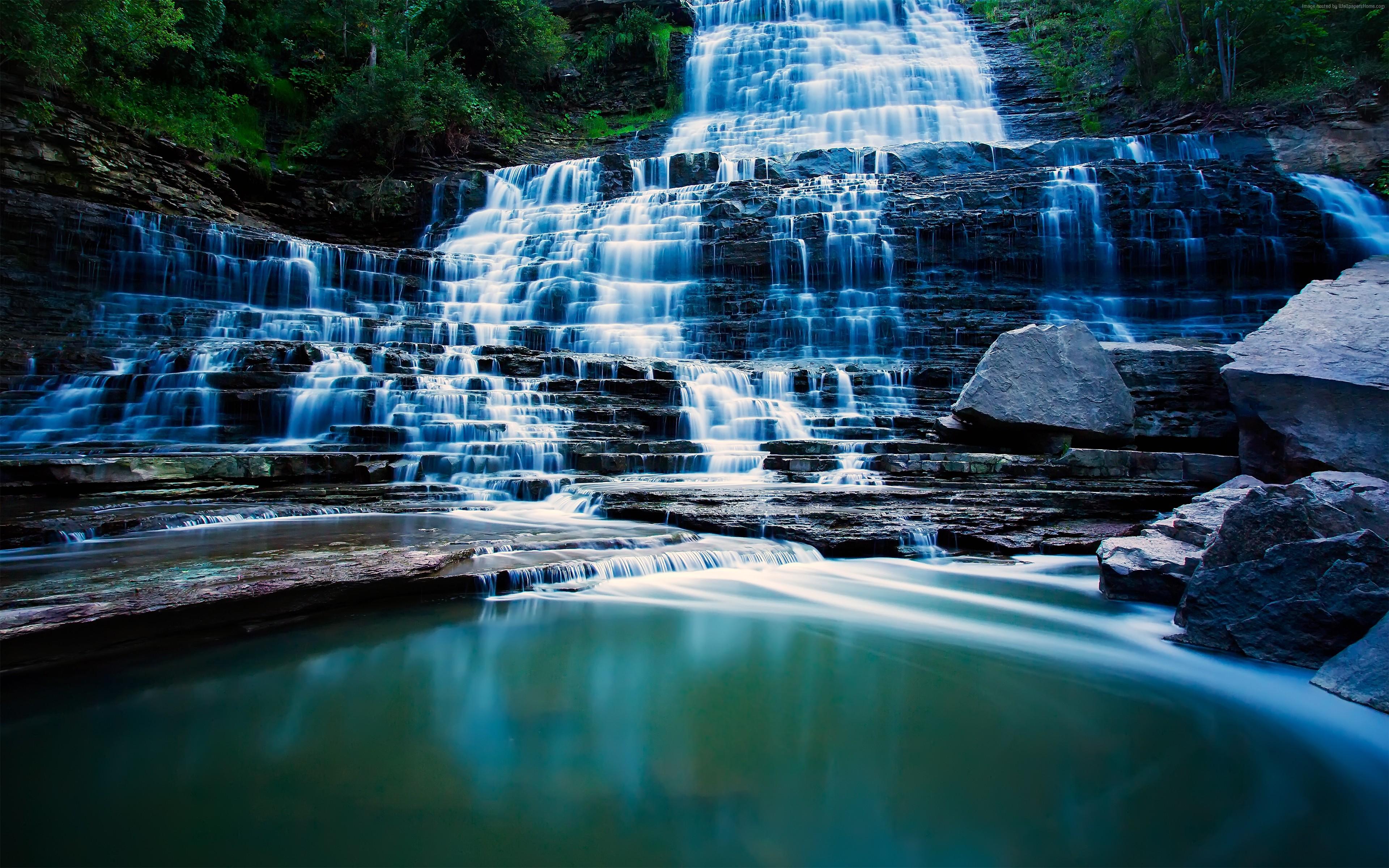 Обои для рабочего стола 1680х1050 водопады