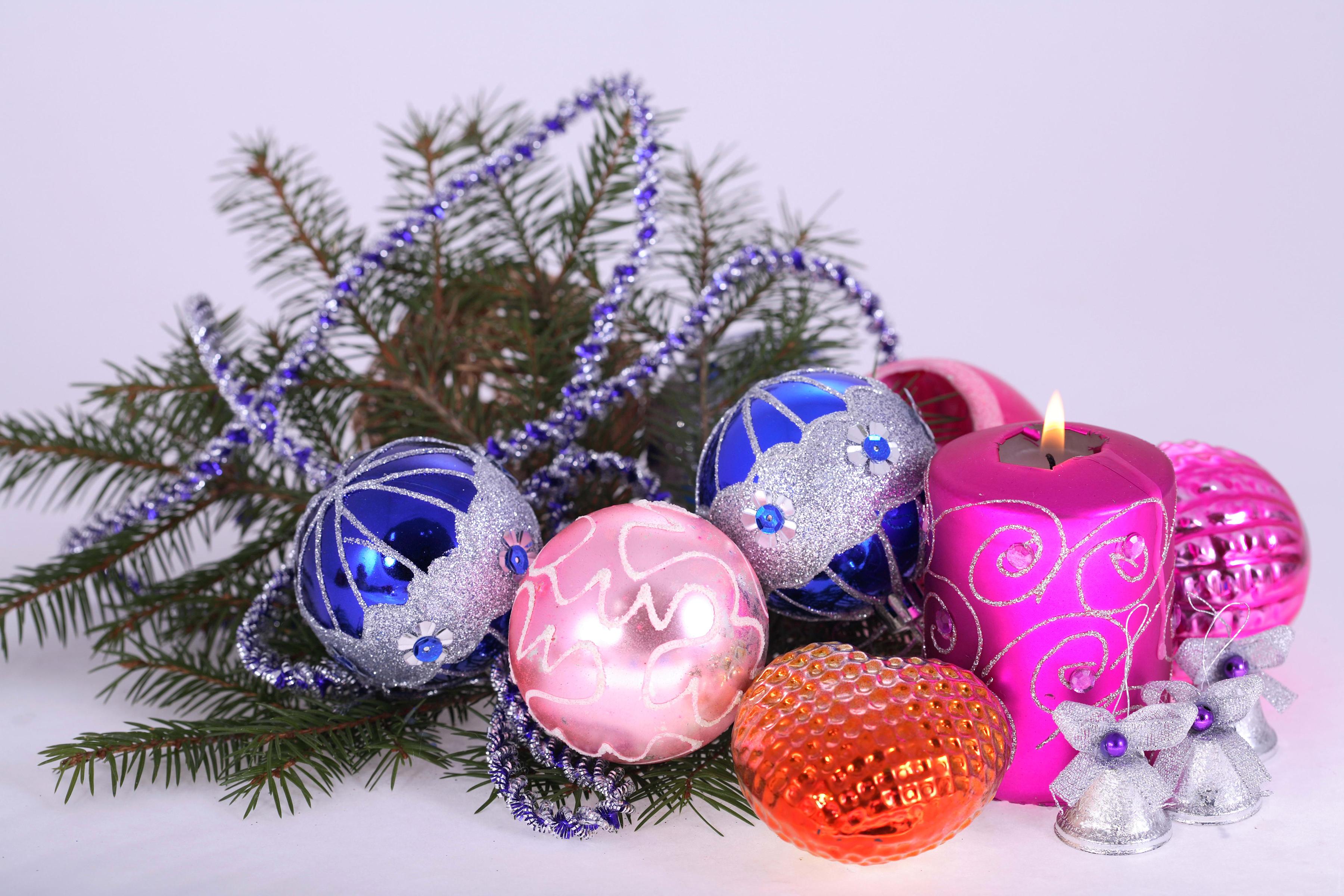 Открытки с новым годом с елкой и шариками, 50-летием