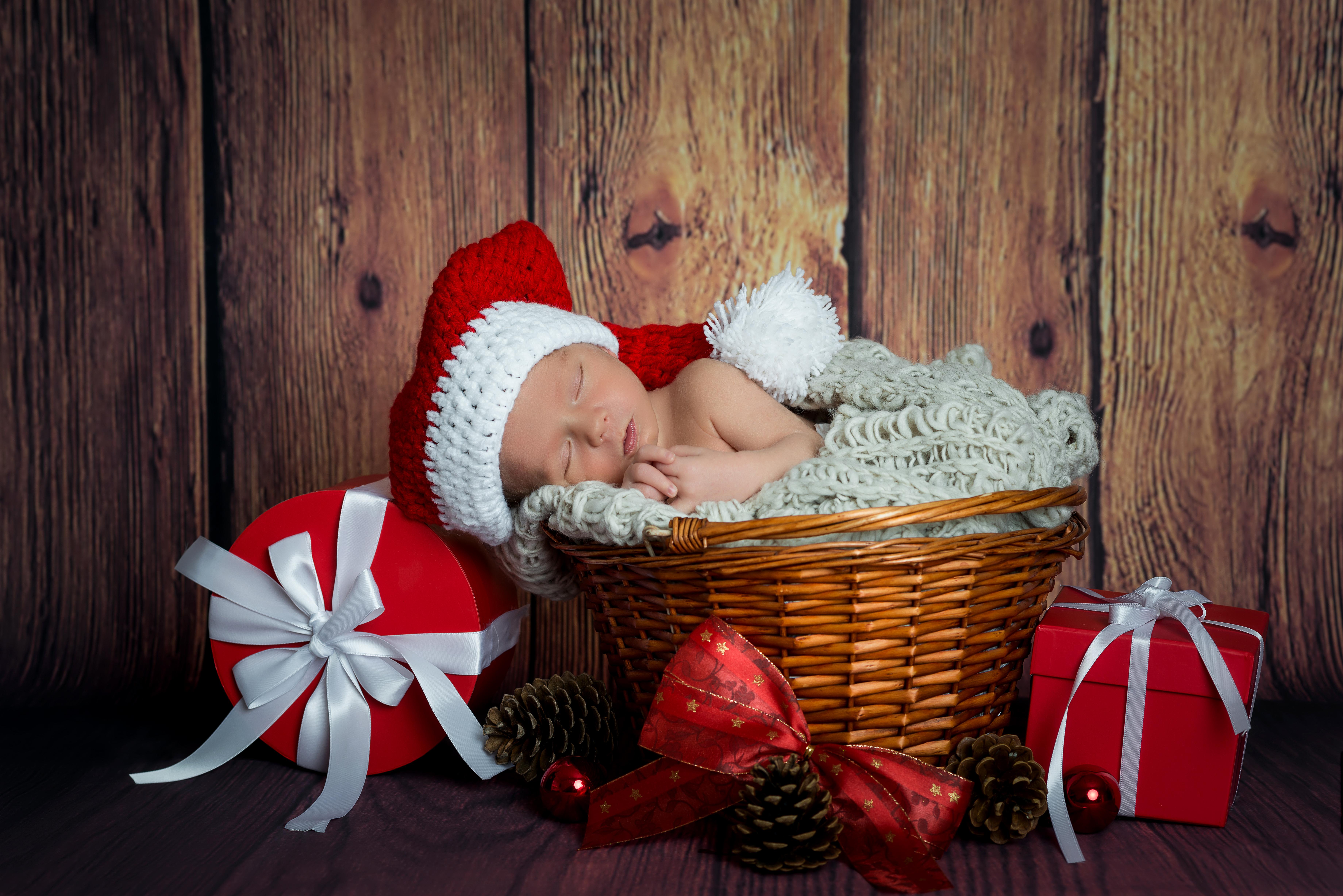 Идеи для новогодних фото с малышом