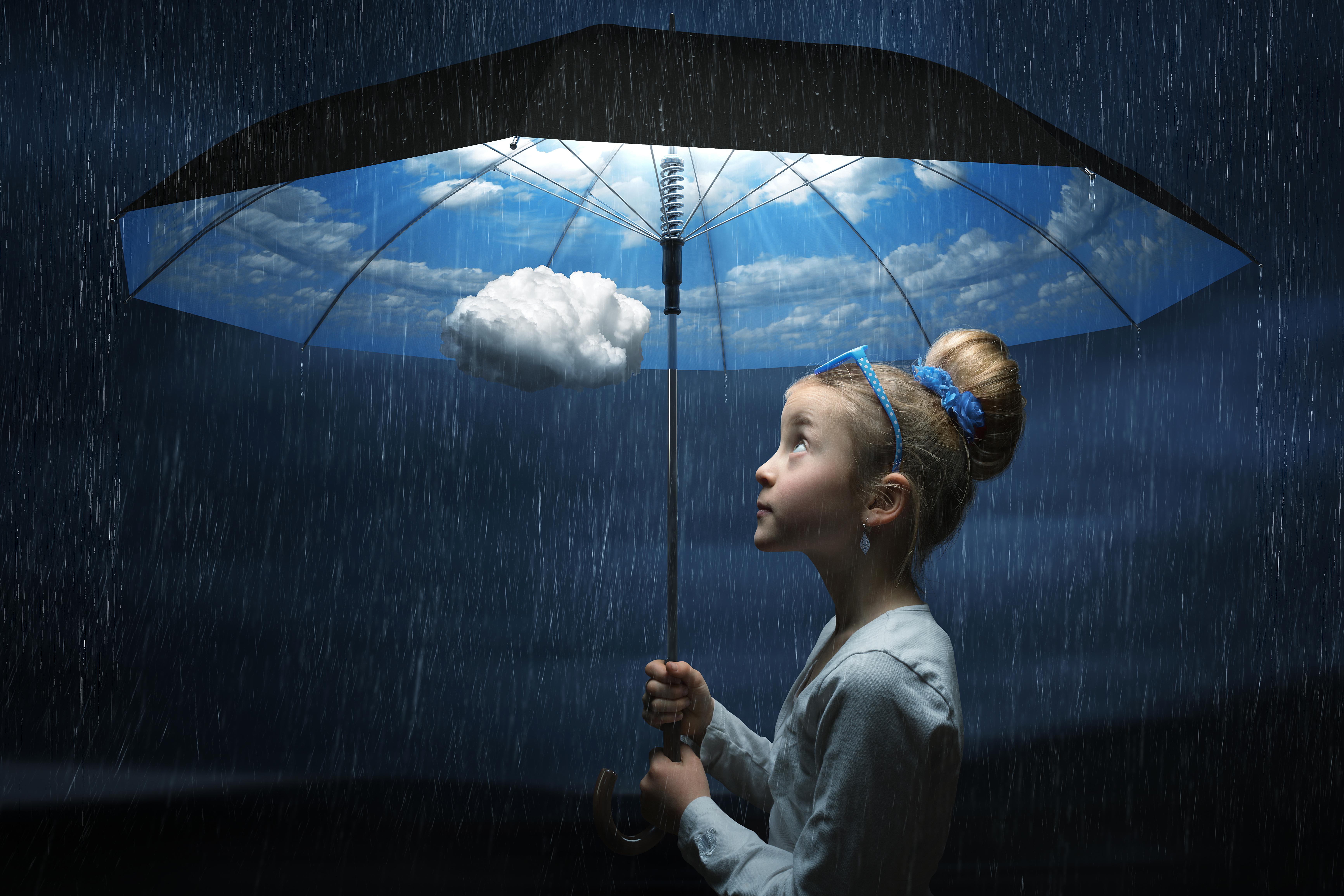 Картинки зонтика под дождем