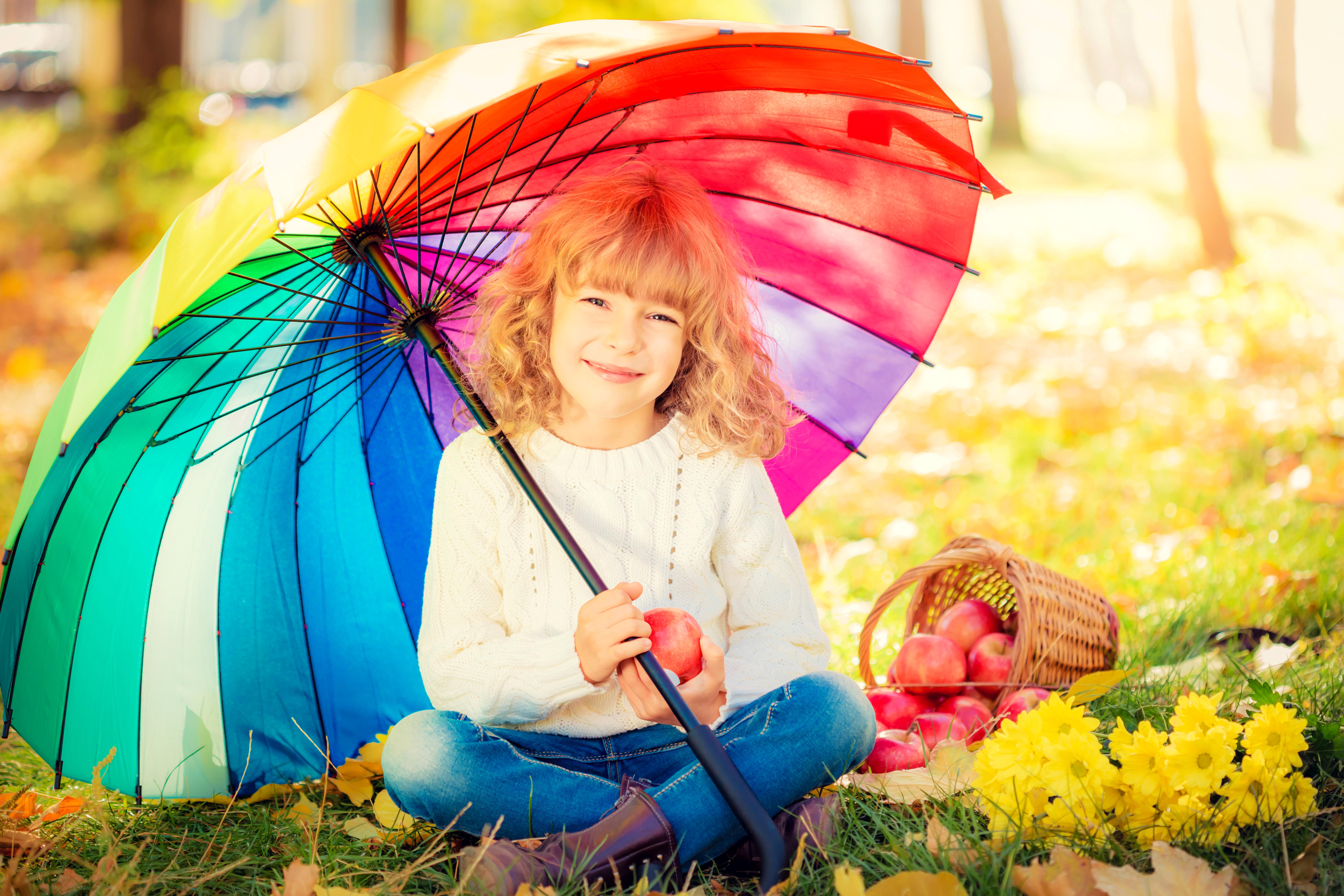 Яркие позитивные картинки осень, рождением