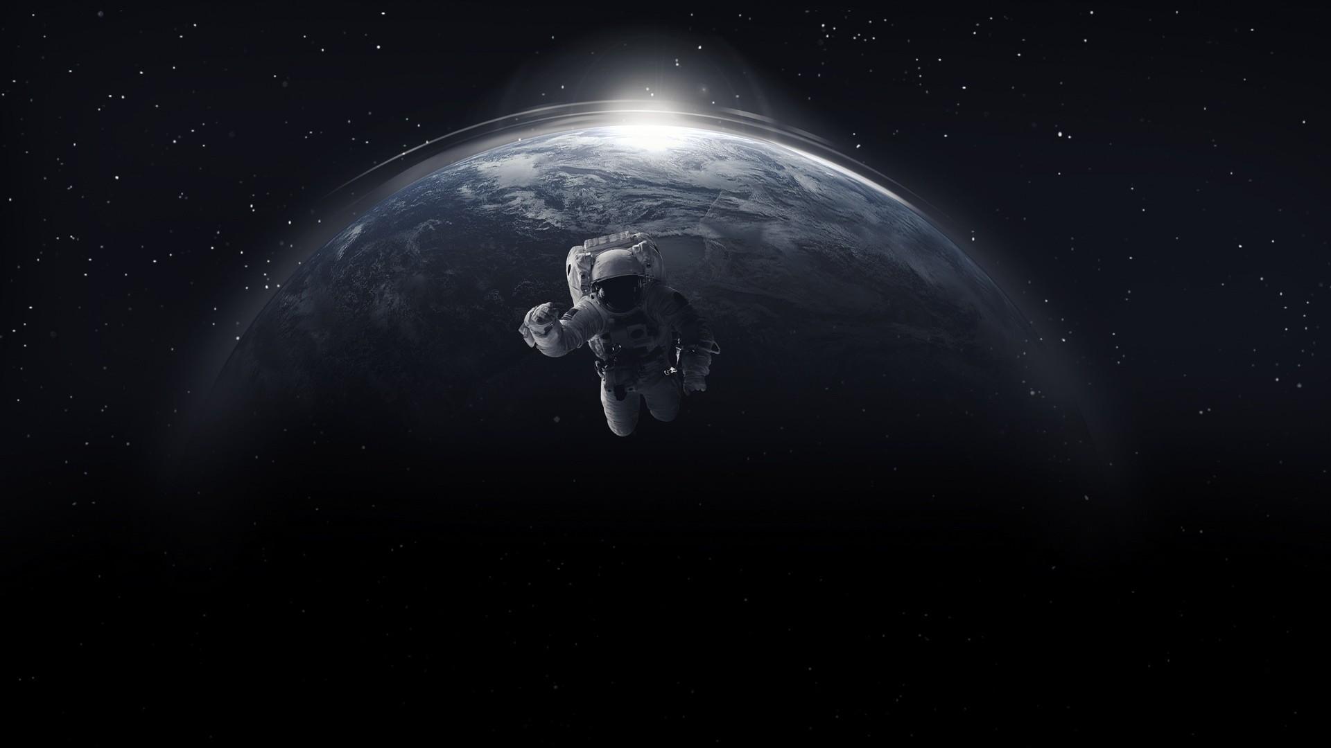 космонавт в открытом космосе рисунки