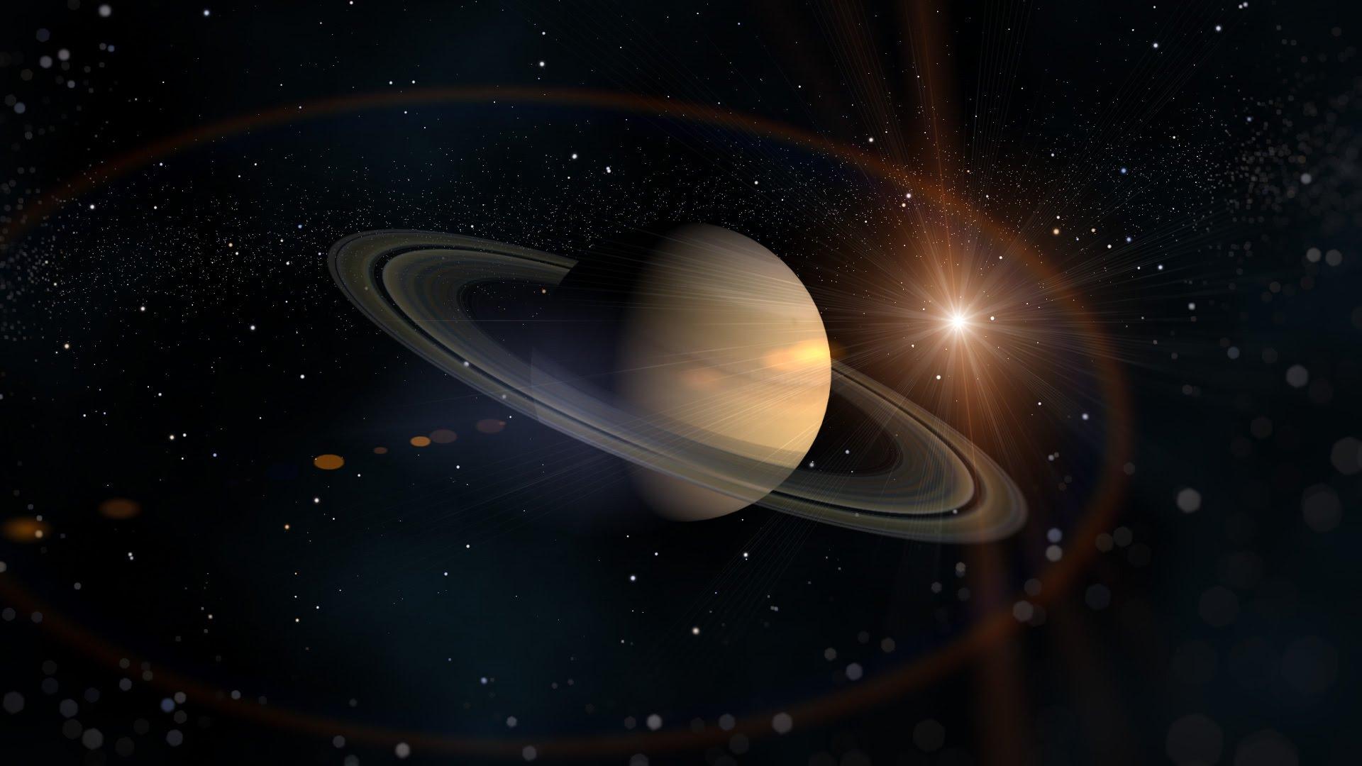Planet Saturn In The Sun Desktop Wallpapers 1920x1080