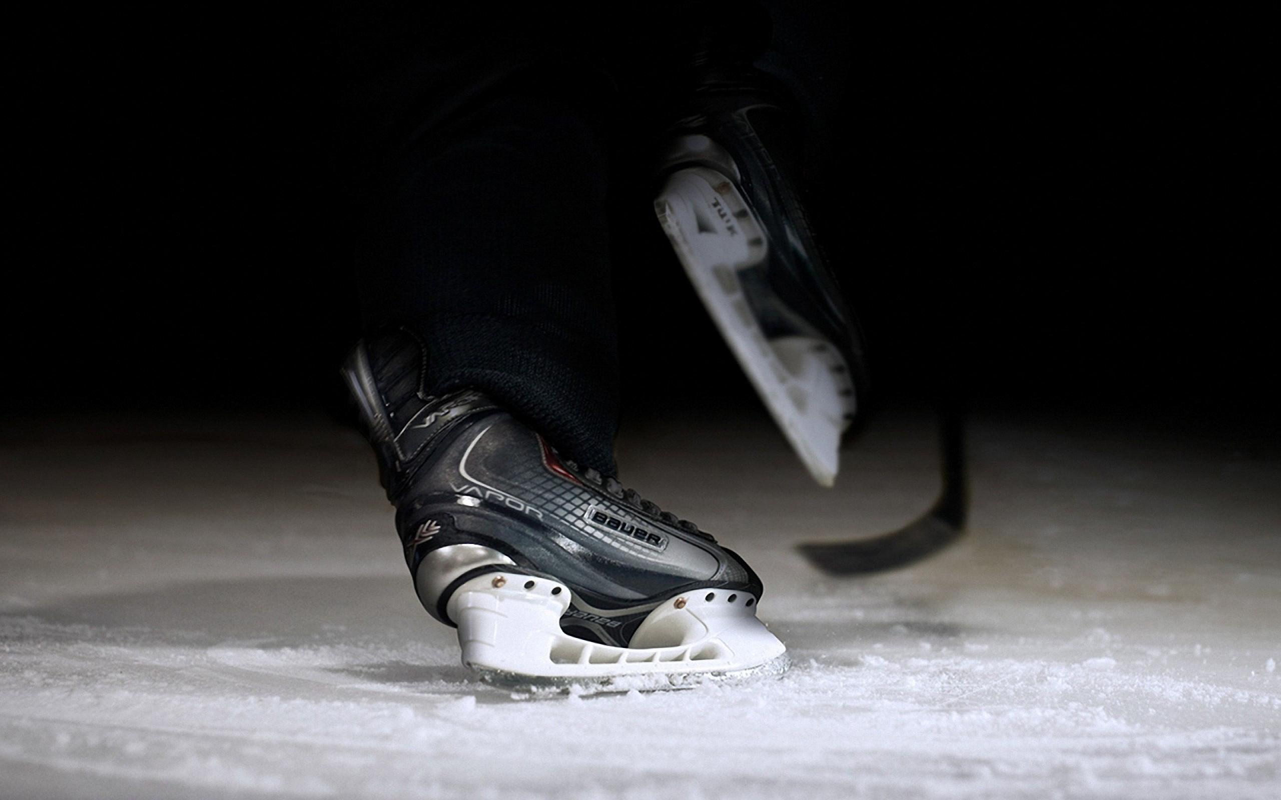 Bauer Hockey Skates On Ice Desktop Wallpapers 1920x1080
