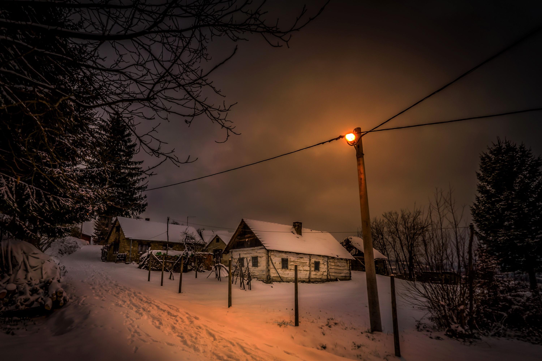 улица ночная в деревне картинки того