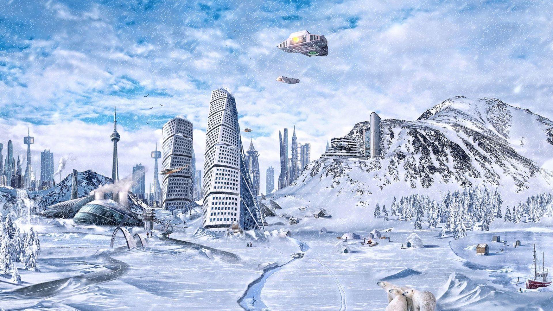 простой картинки зима фантастика получается очень