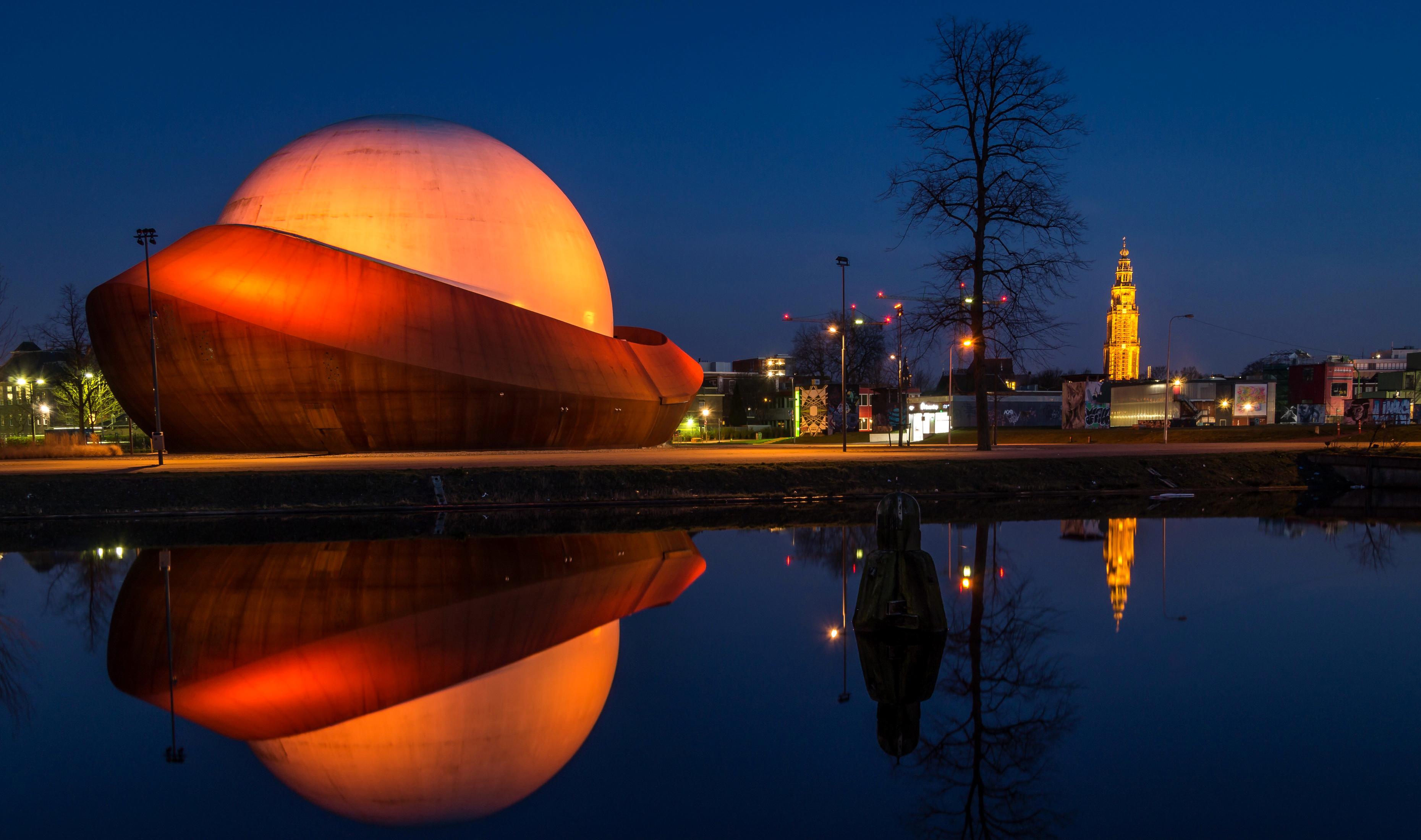 Beautiful building of a planetarium in Groningen ...
