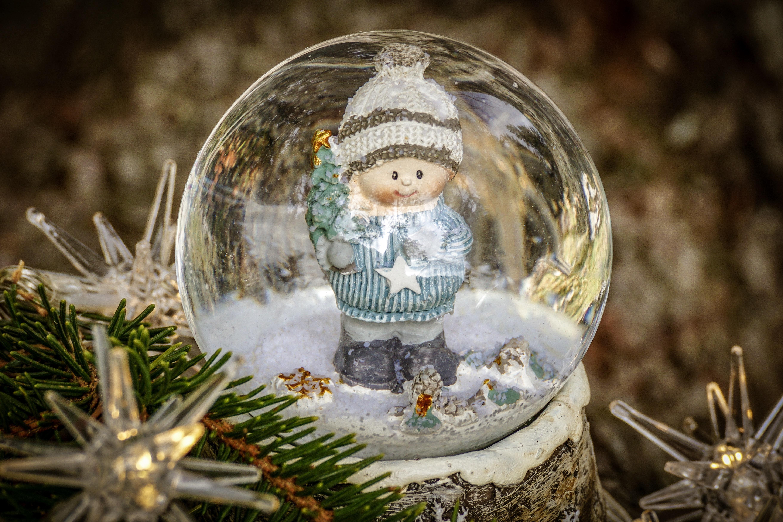 шар со снегом с фотографией внутри кислорода, находящиеся движении