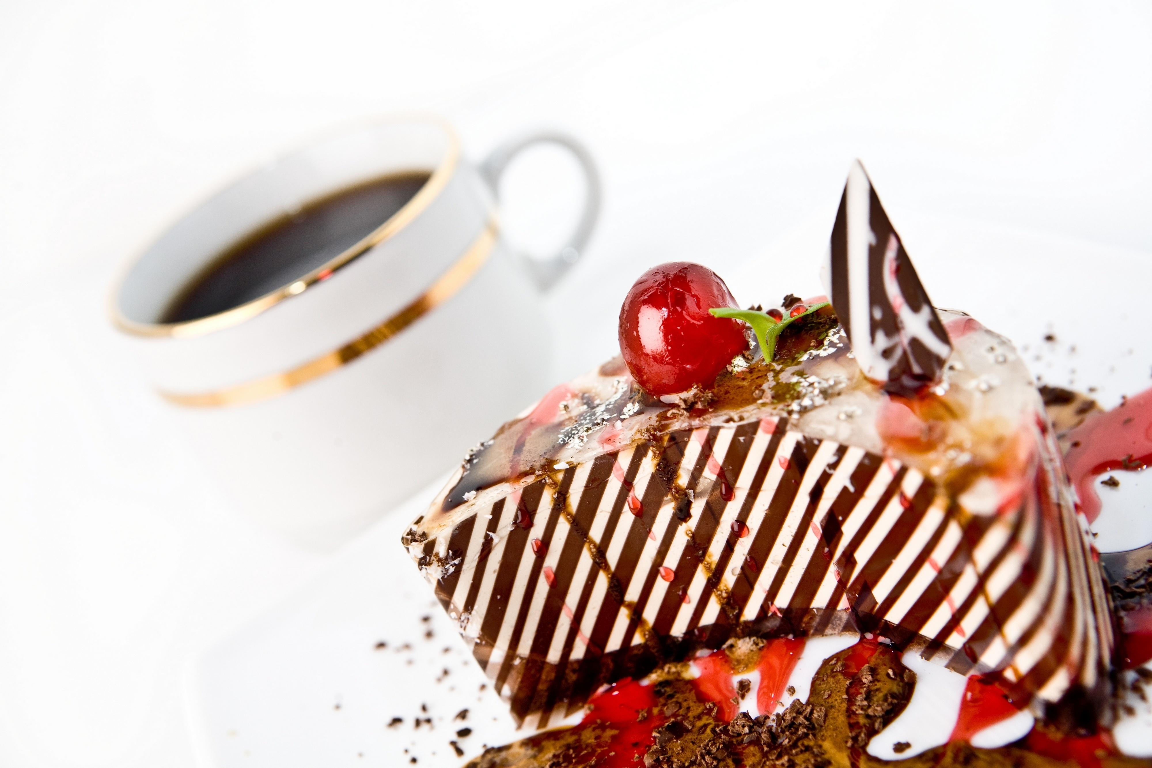 Картинки торт с кофе