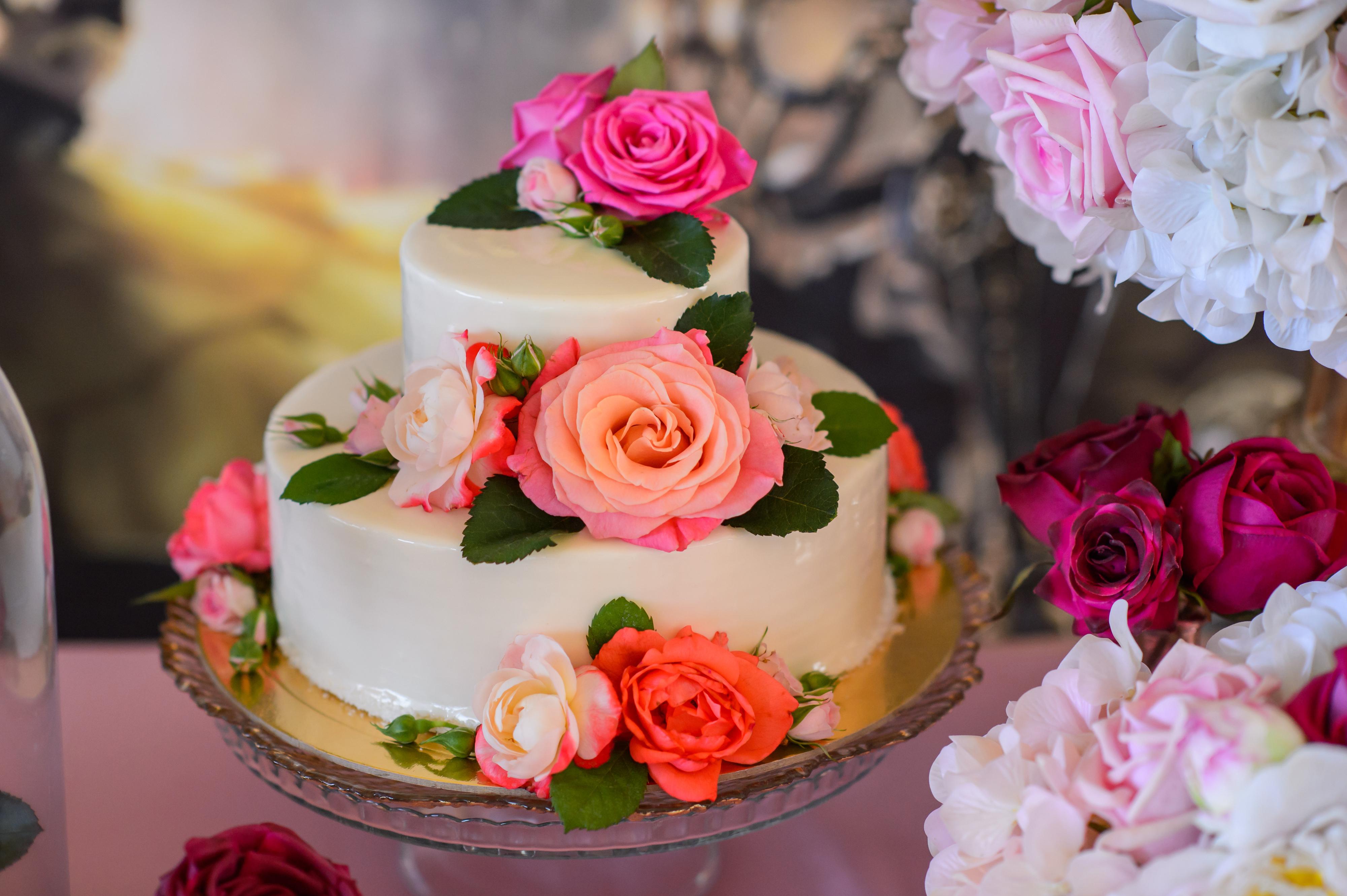 Картинки торт с цветами, поздравления днем рождения