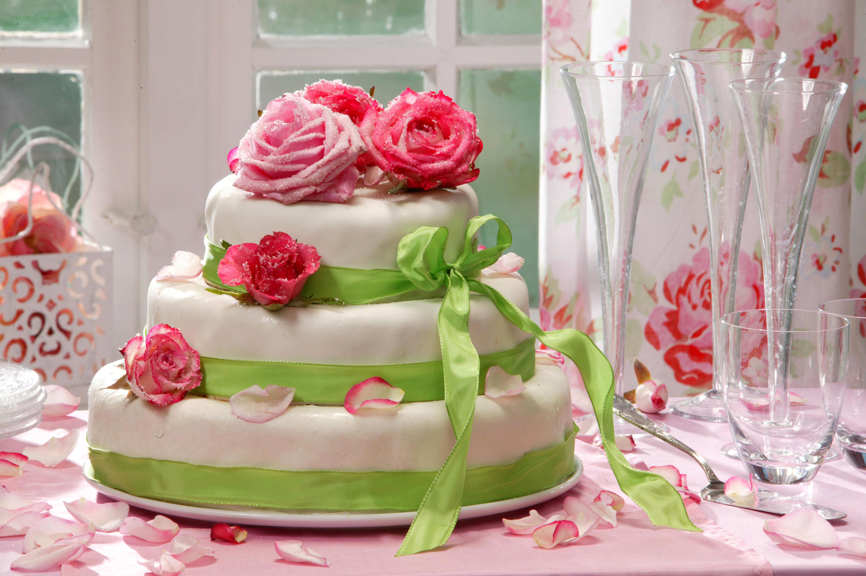 Открытки торт и розы