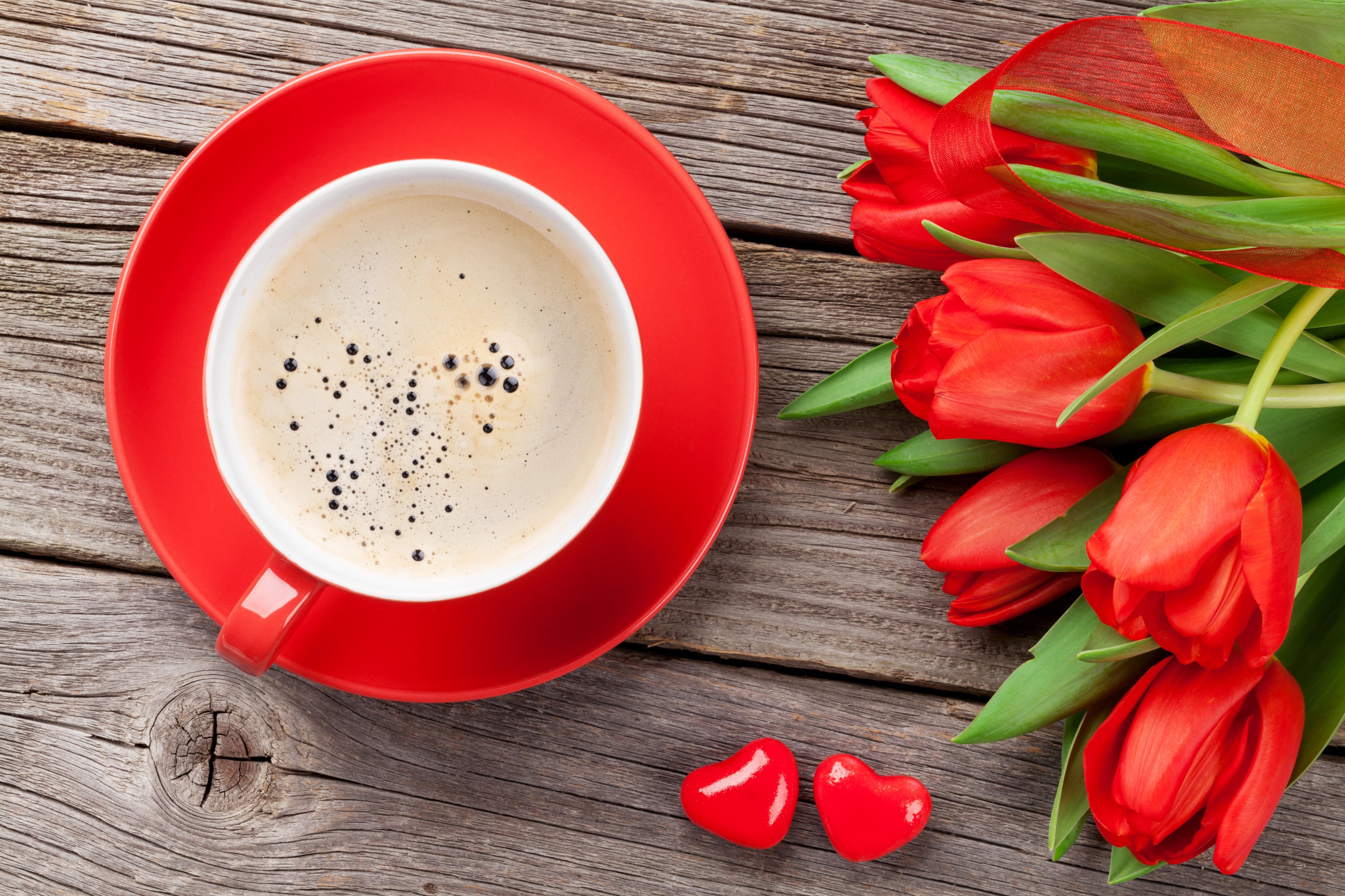 Доброе утро фото тюльпаны