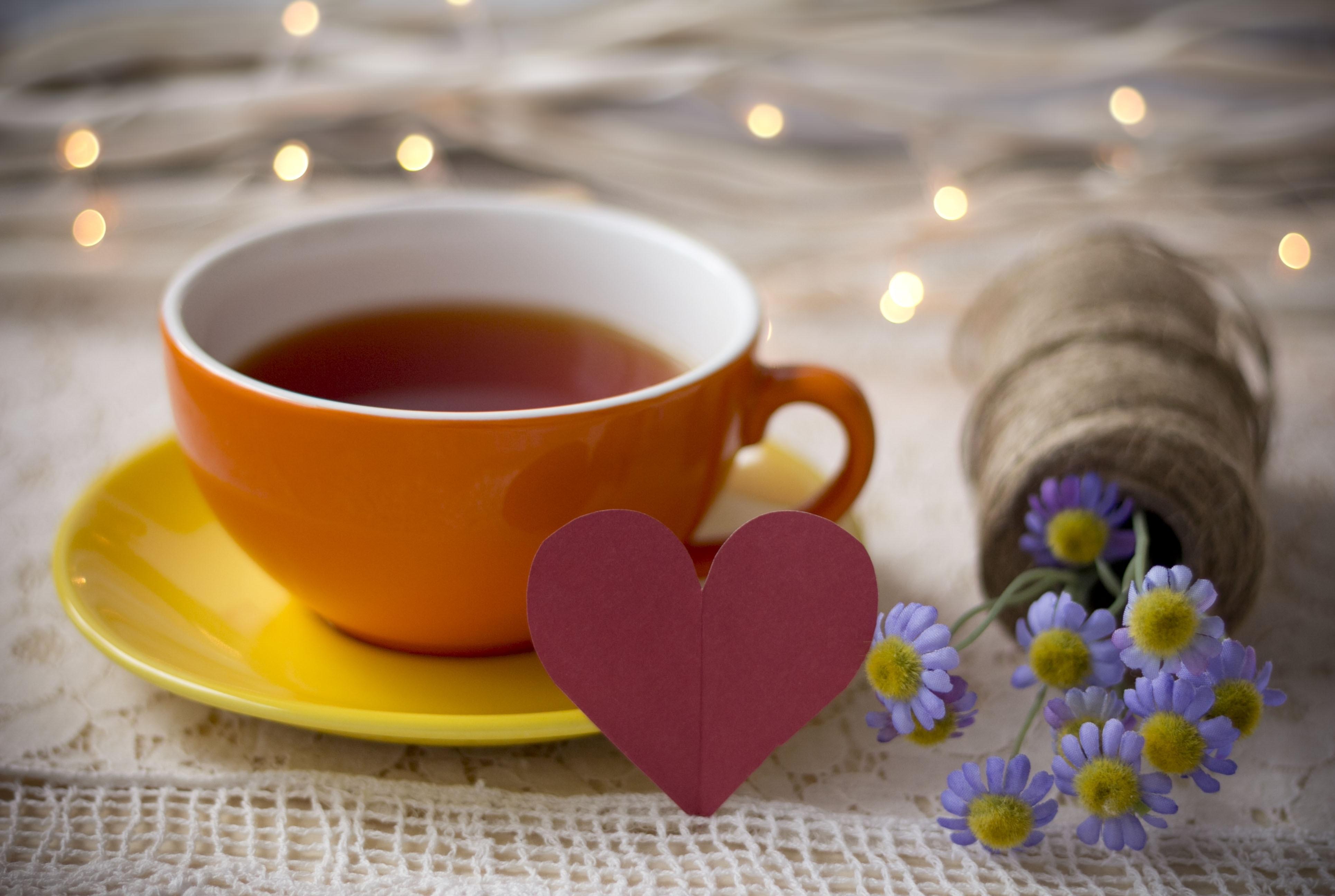 Открытка кружка чая, прошлое настоящее