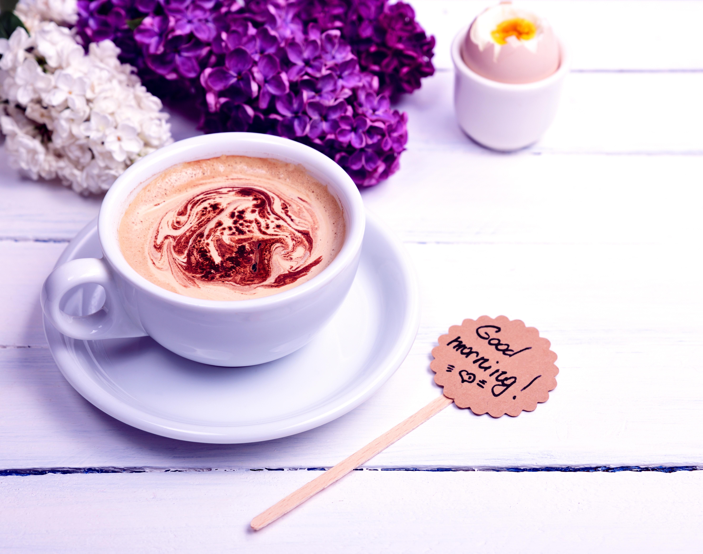 Картинки цветы и кофе красивые