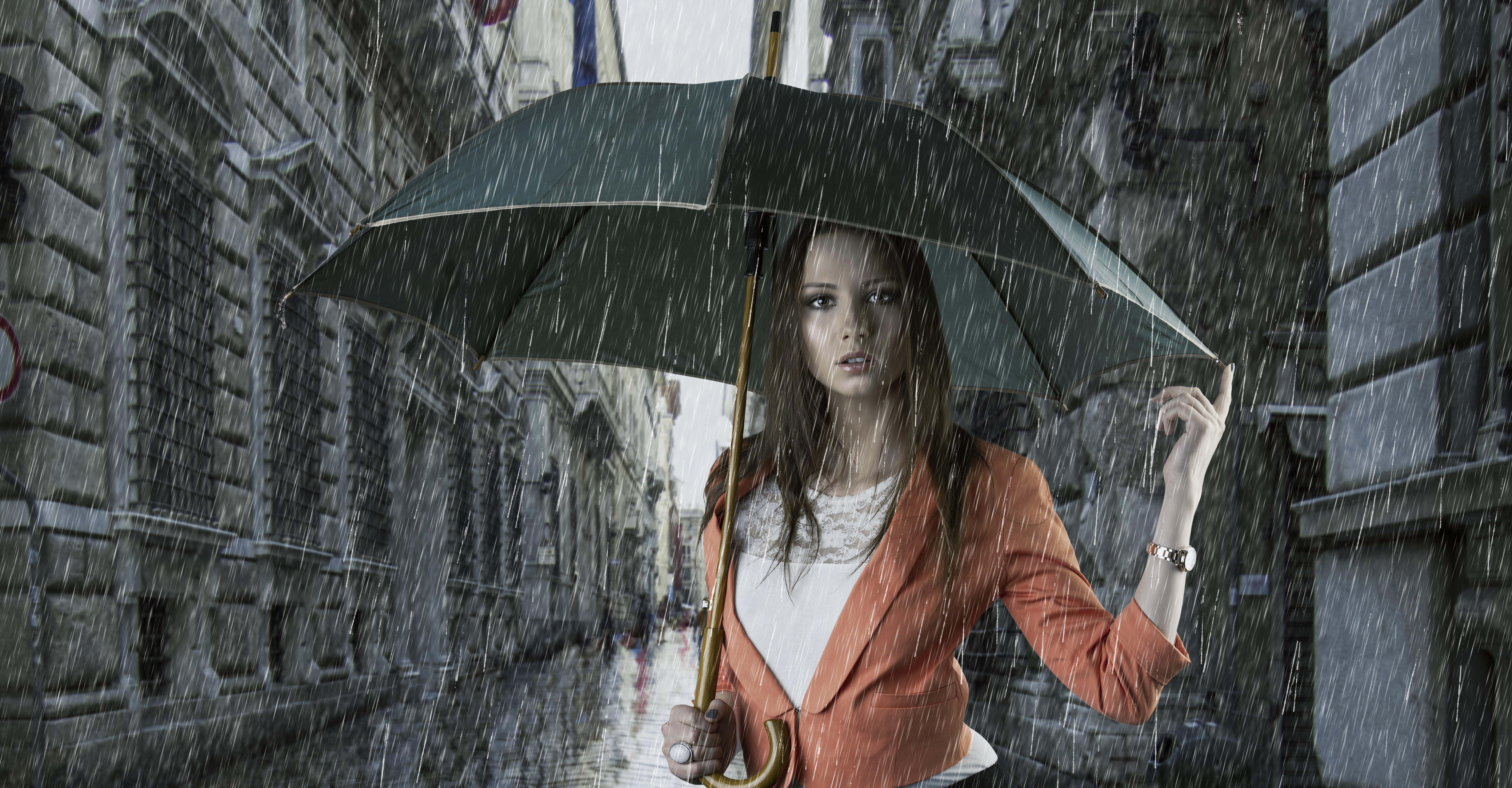Открытки девушка под зонтом, это открытки анимашки