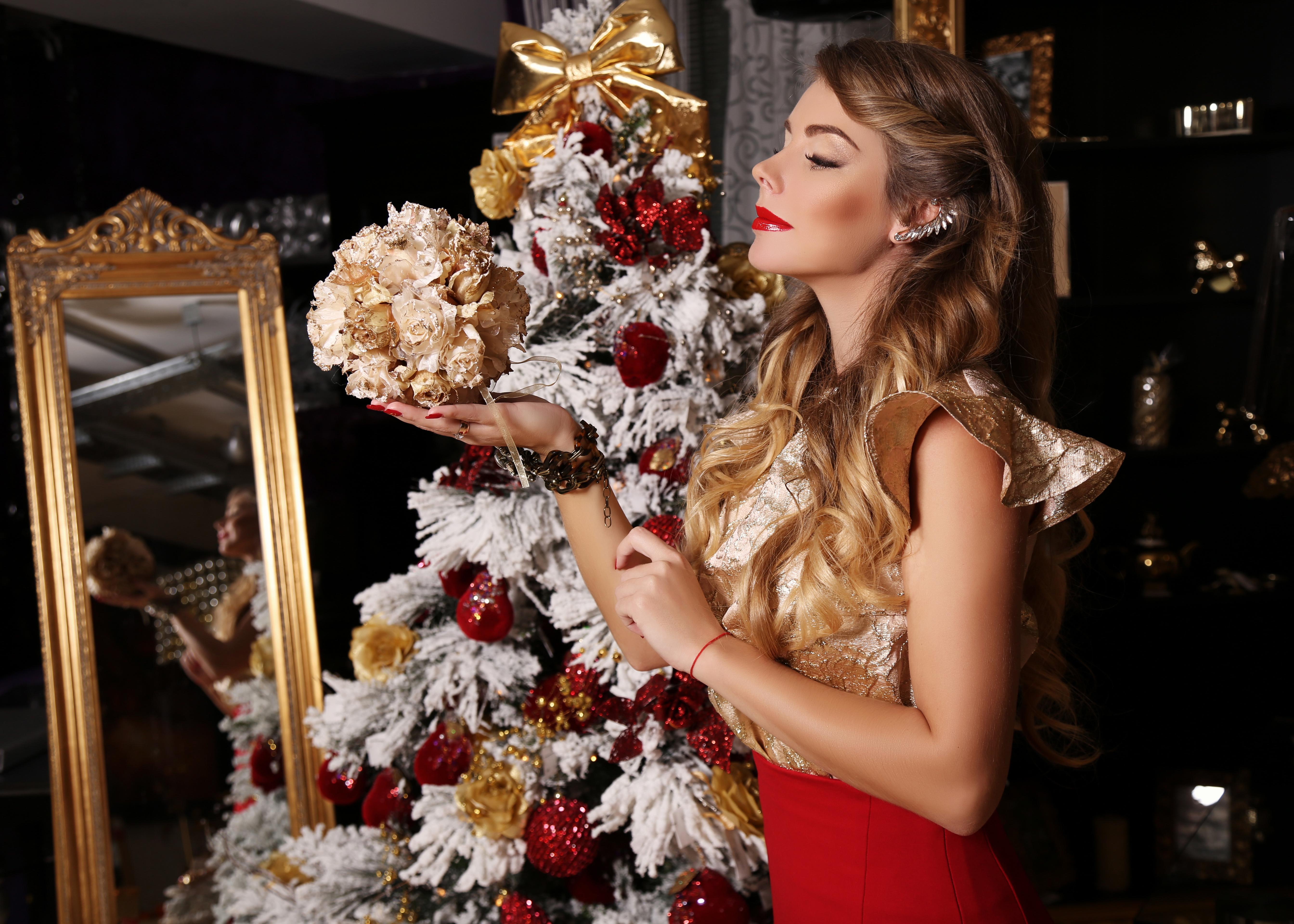 Красивые картинки девушке на новый год