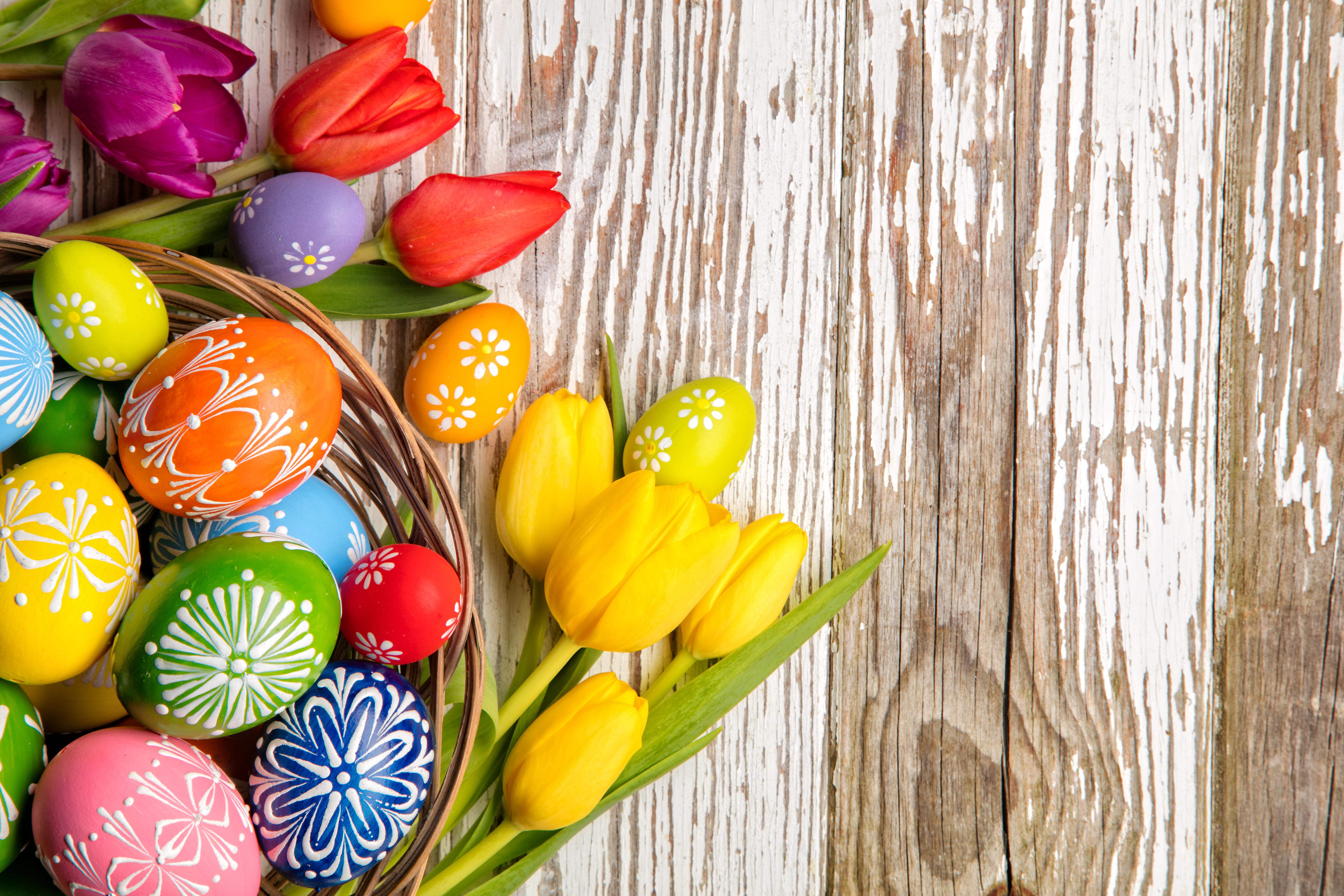 Открытки на пасху с цветами