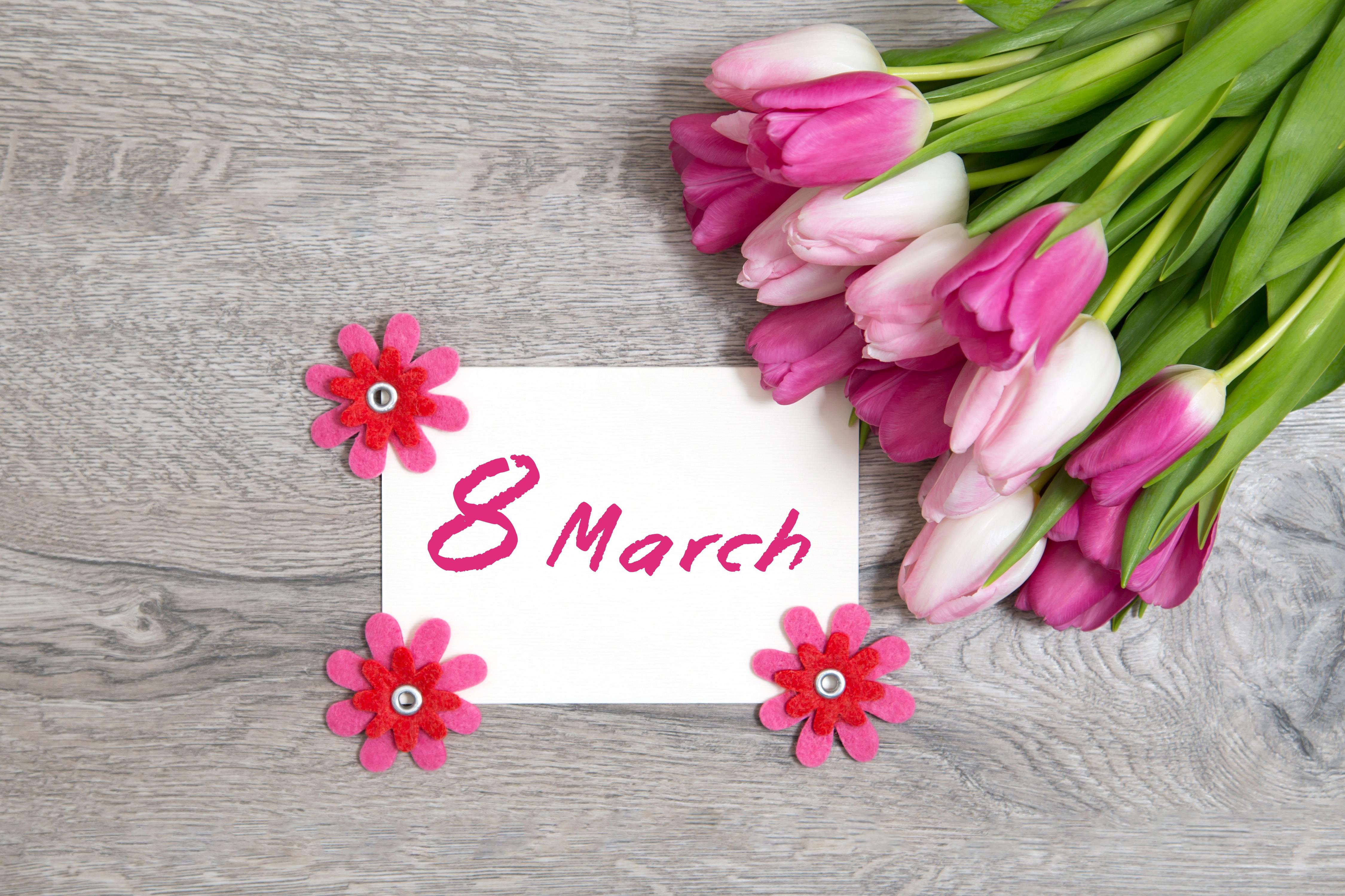 Открытка с 8 марта фоны