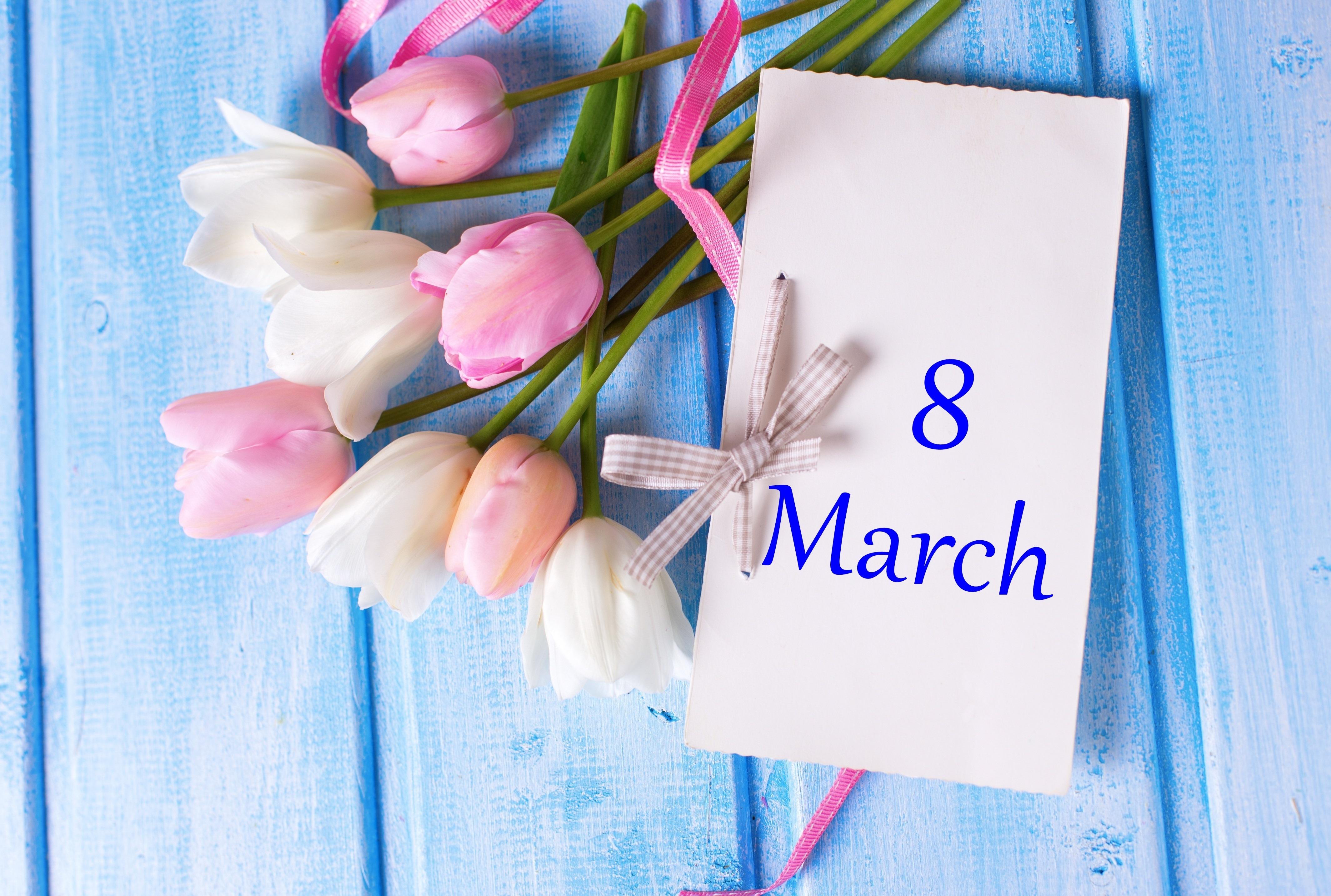 Поздравление с 8 марта стильные картинки