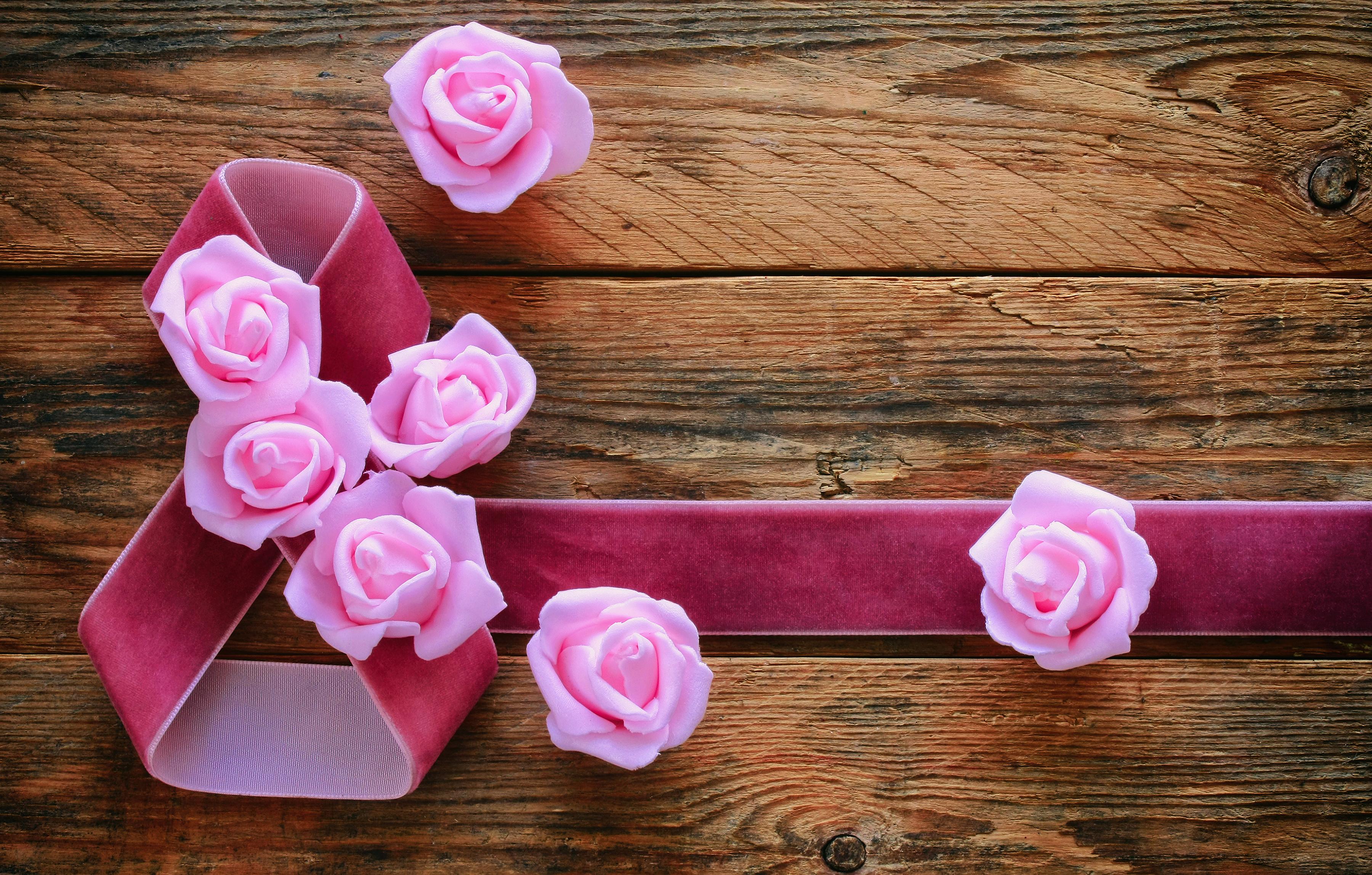 цветочки из ленты для открытки