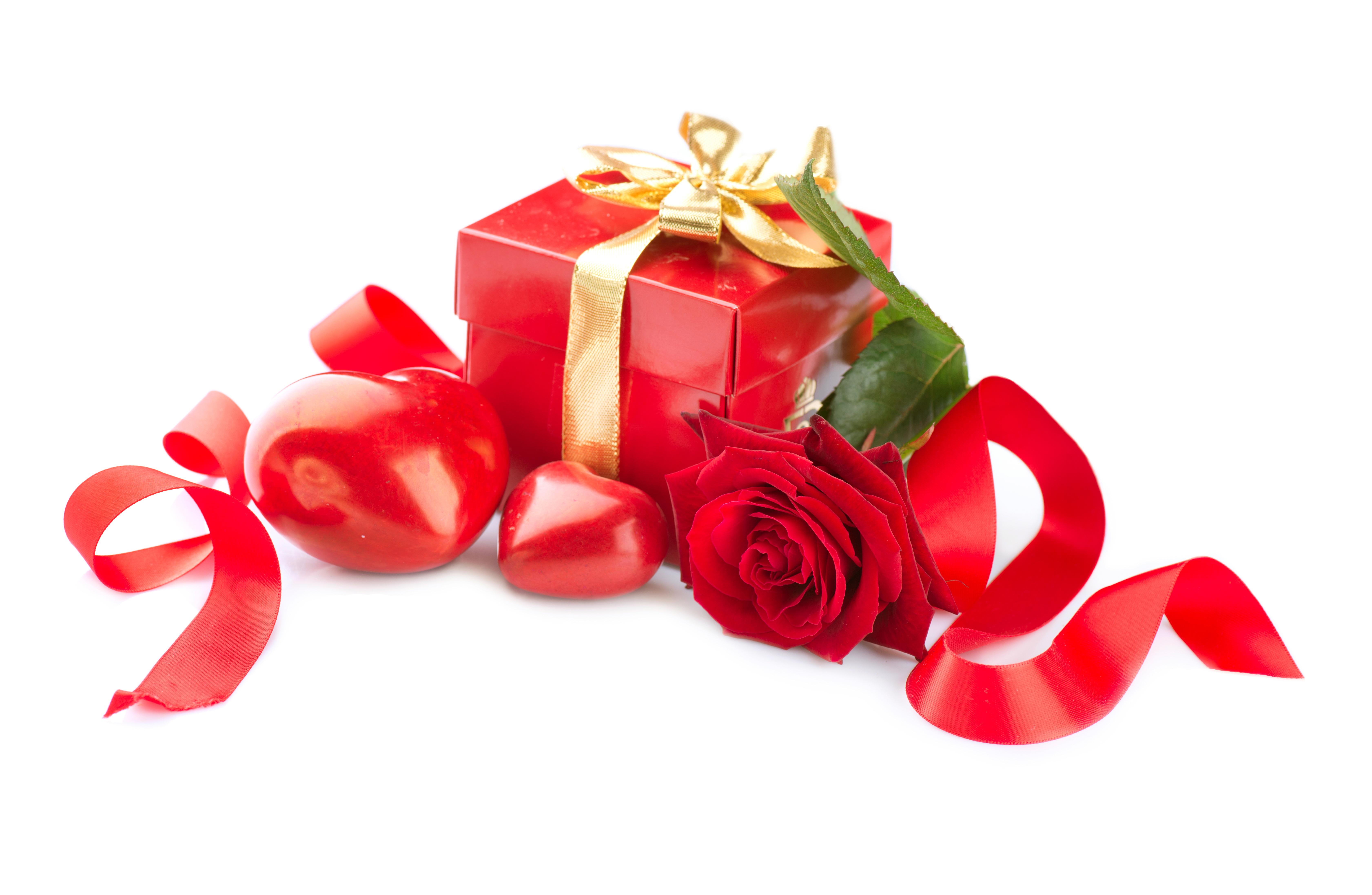 Открытка с подарком женщине, картинки