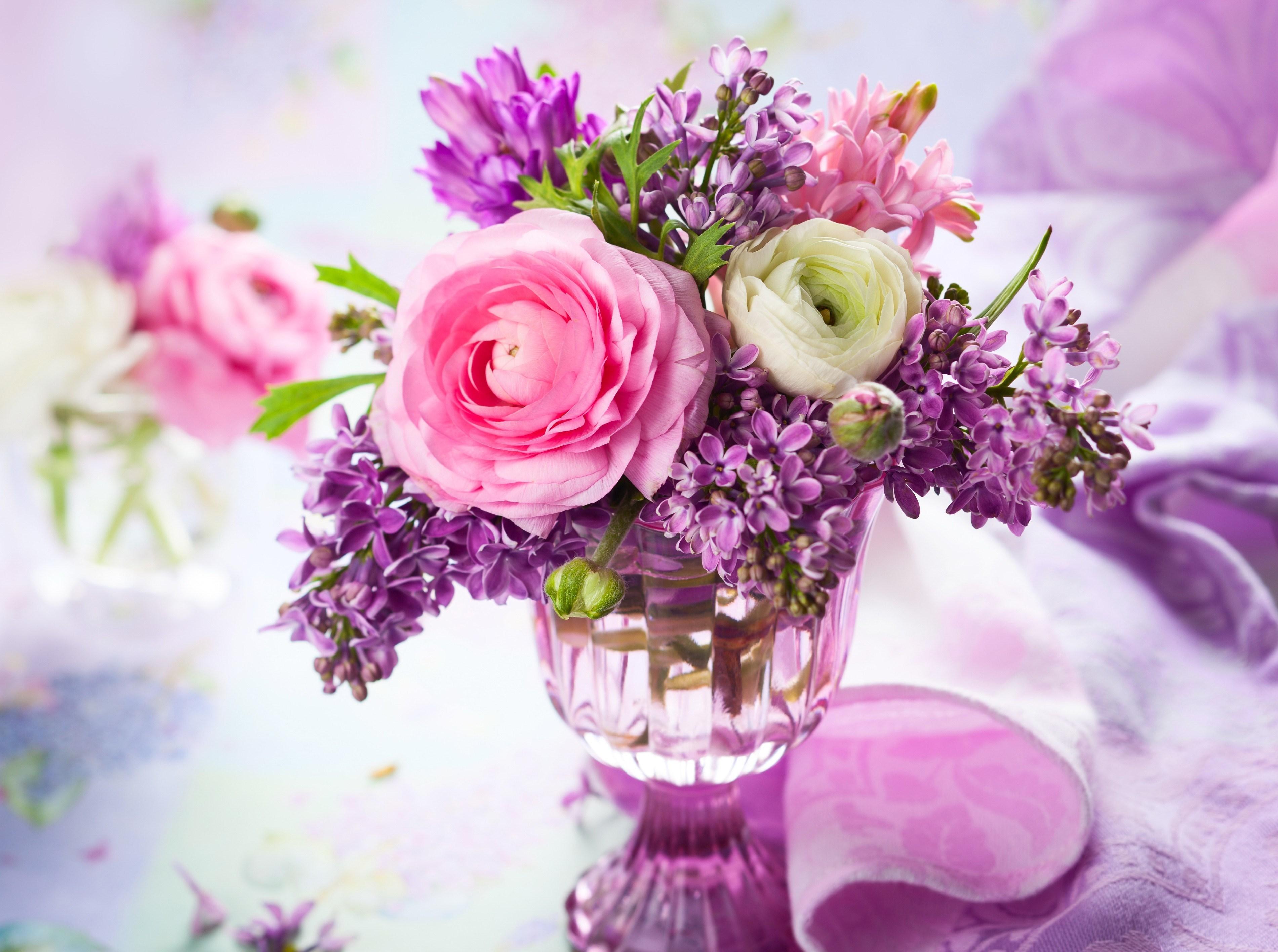С днем рождения цветы в вазе картинки, днем рождения