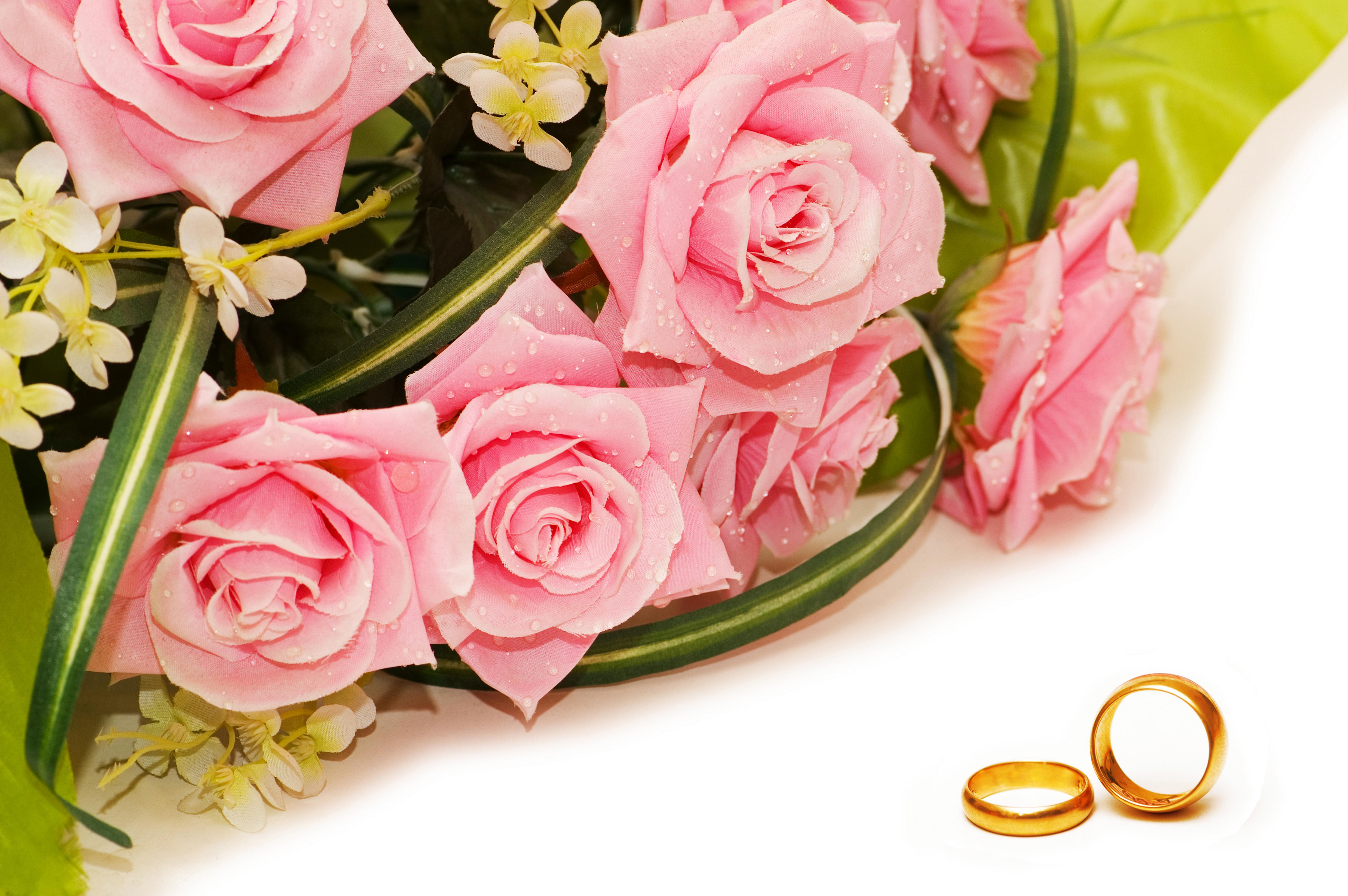 Открытки с букетами цветов к свадьбе
