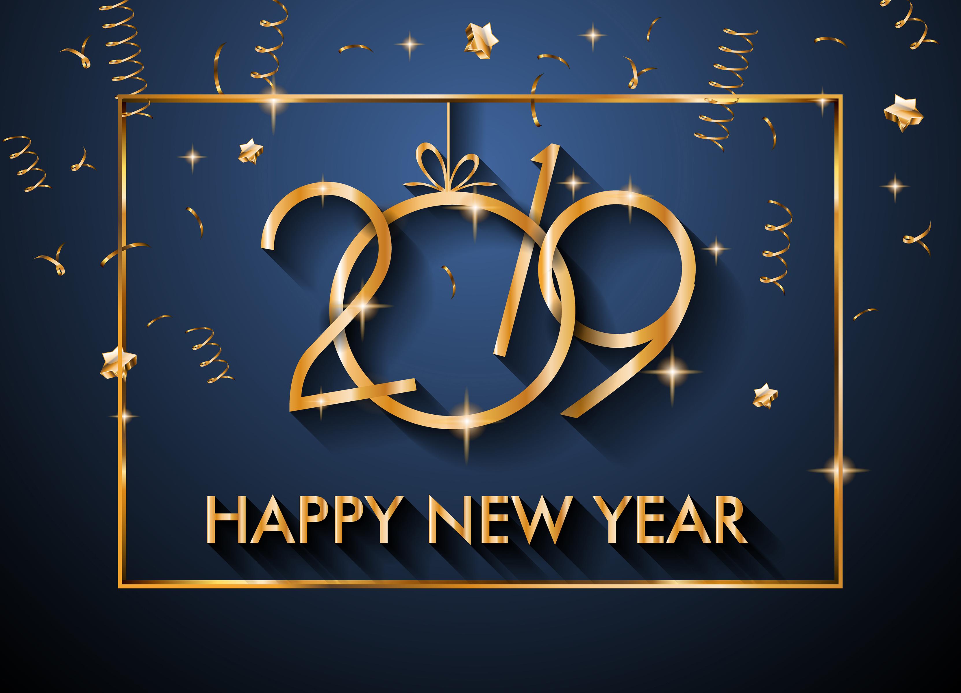 Happy New Year 2019 Desktop wallpapers 1920x1080