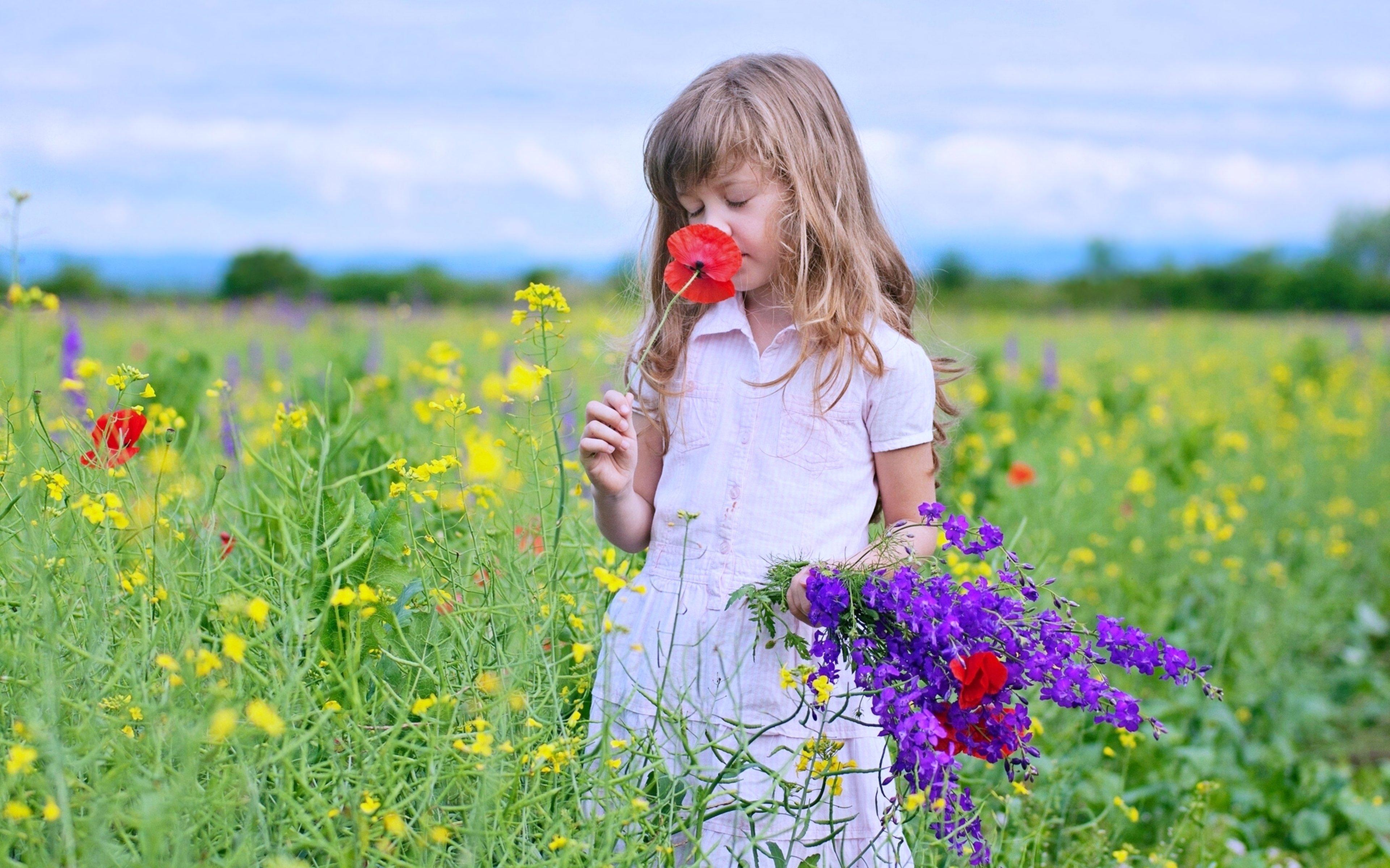 Надписью, картинки для детей с цветами