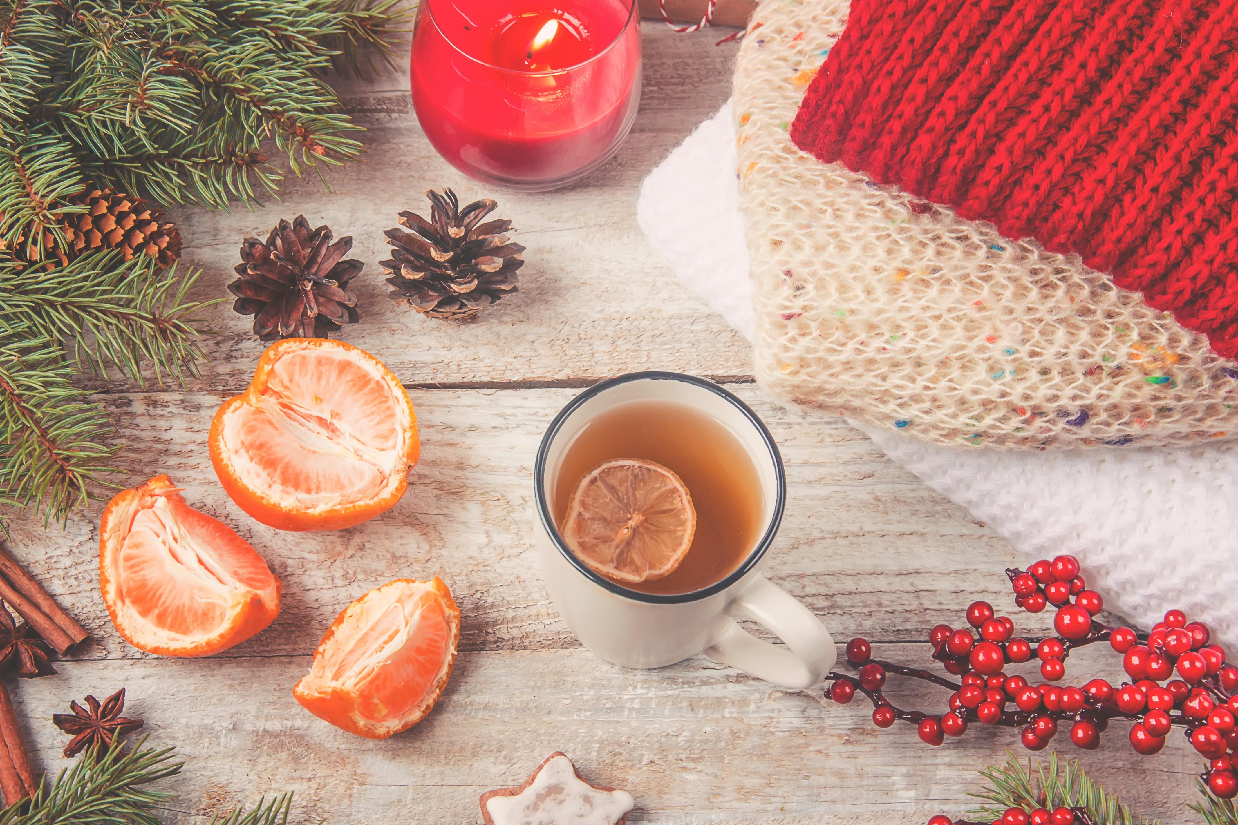 зимние картинки с чаем и елкой это место