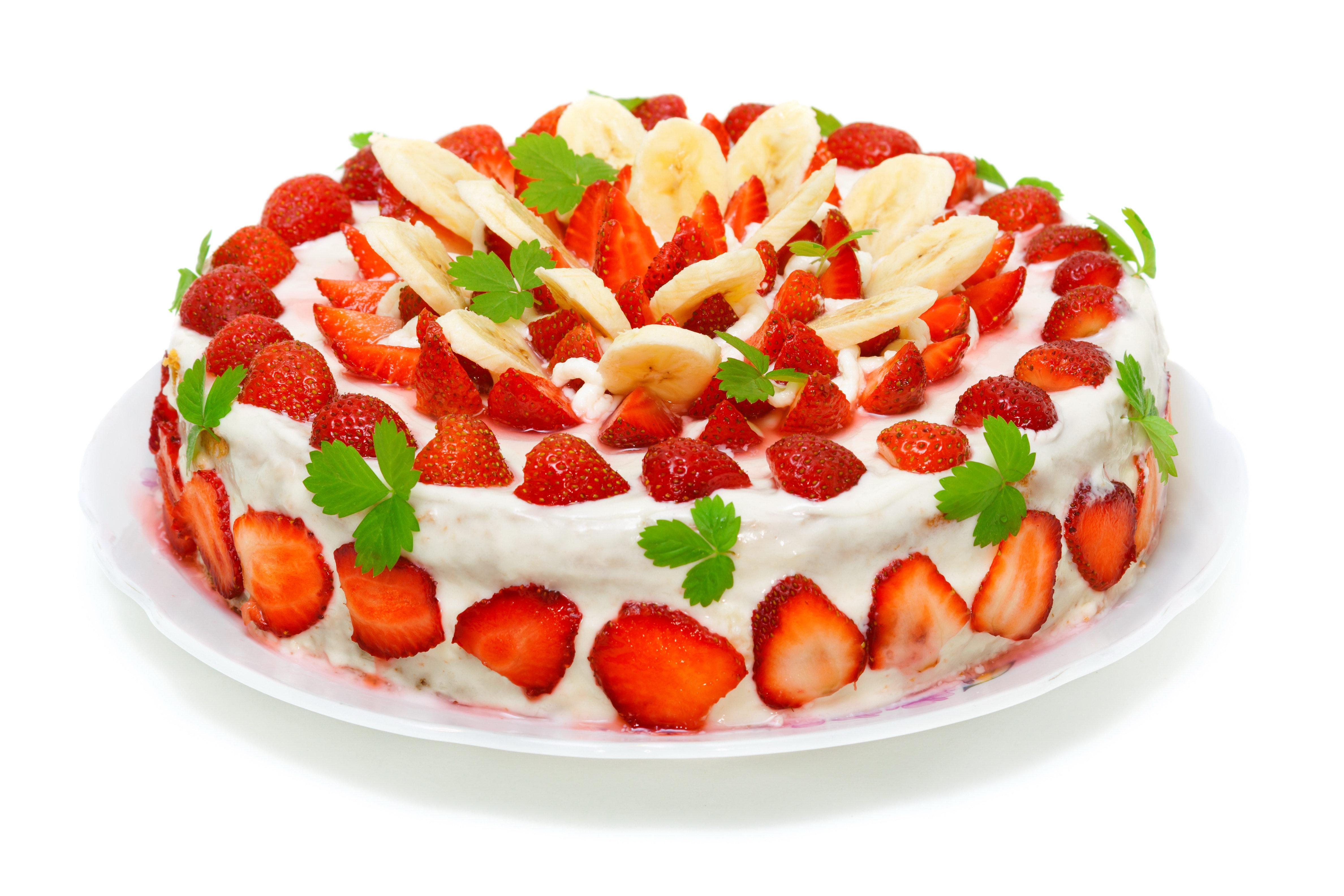 Картинки с днем рождения торт с клубникой, для