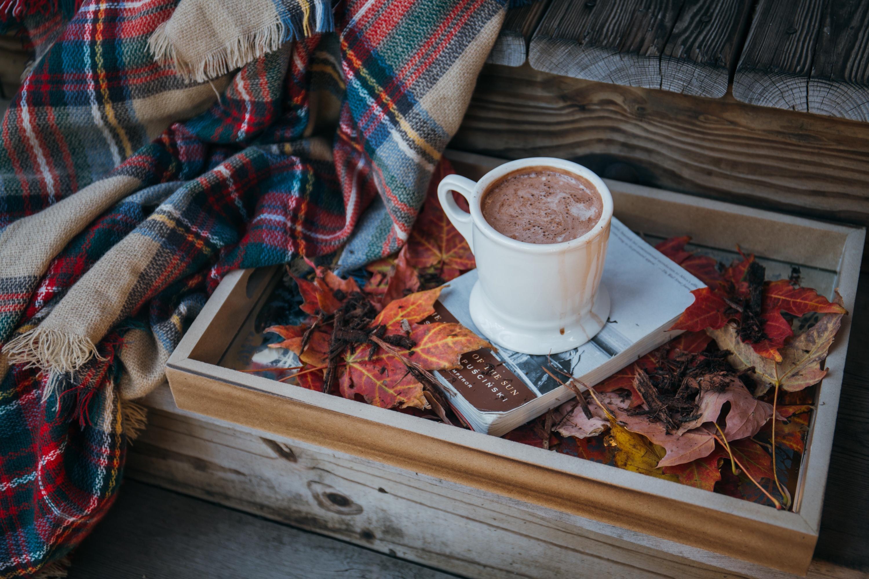 Картинки кофе осень плед