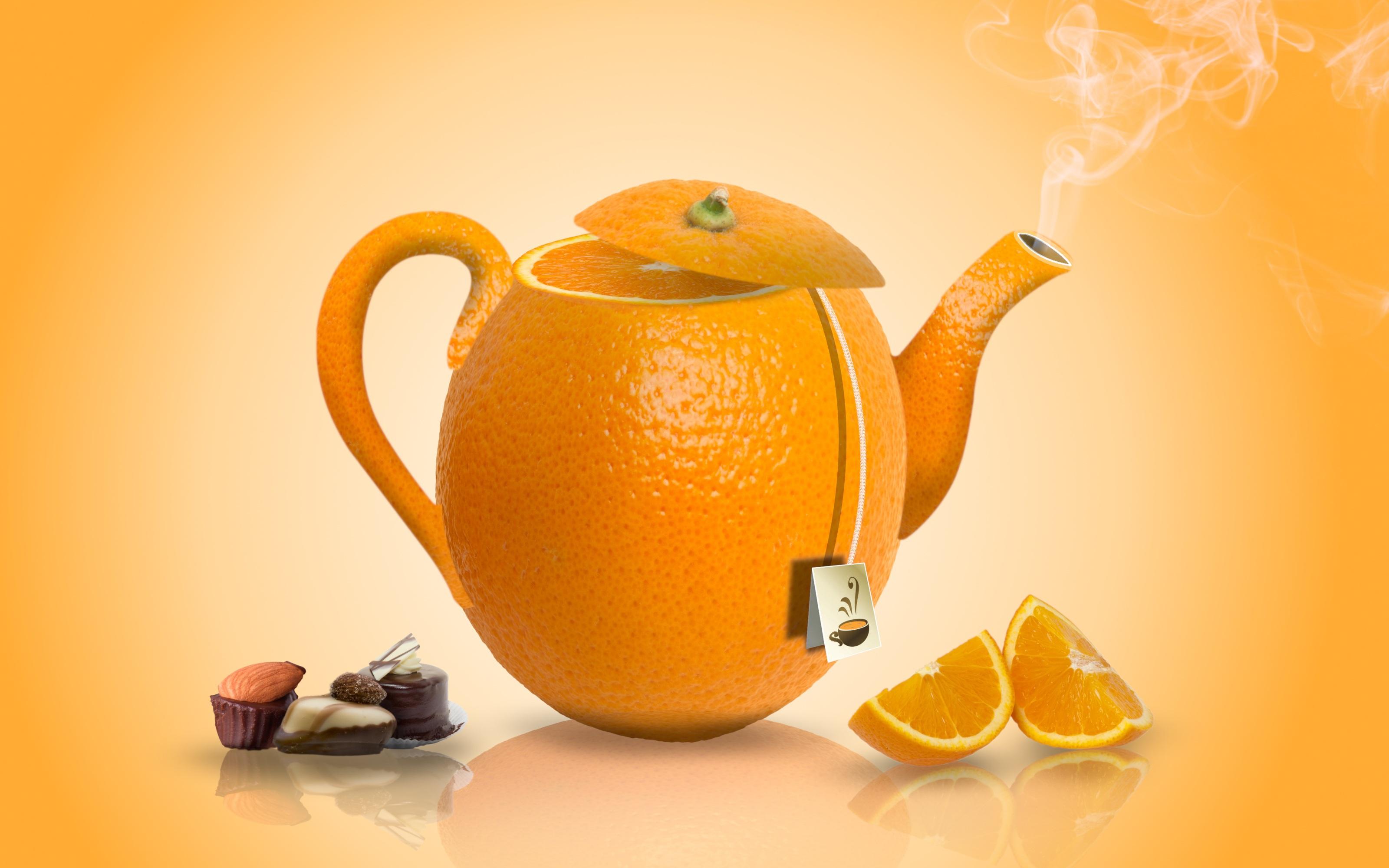 Картинки с апельсином доброе утро, жене рождение