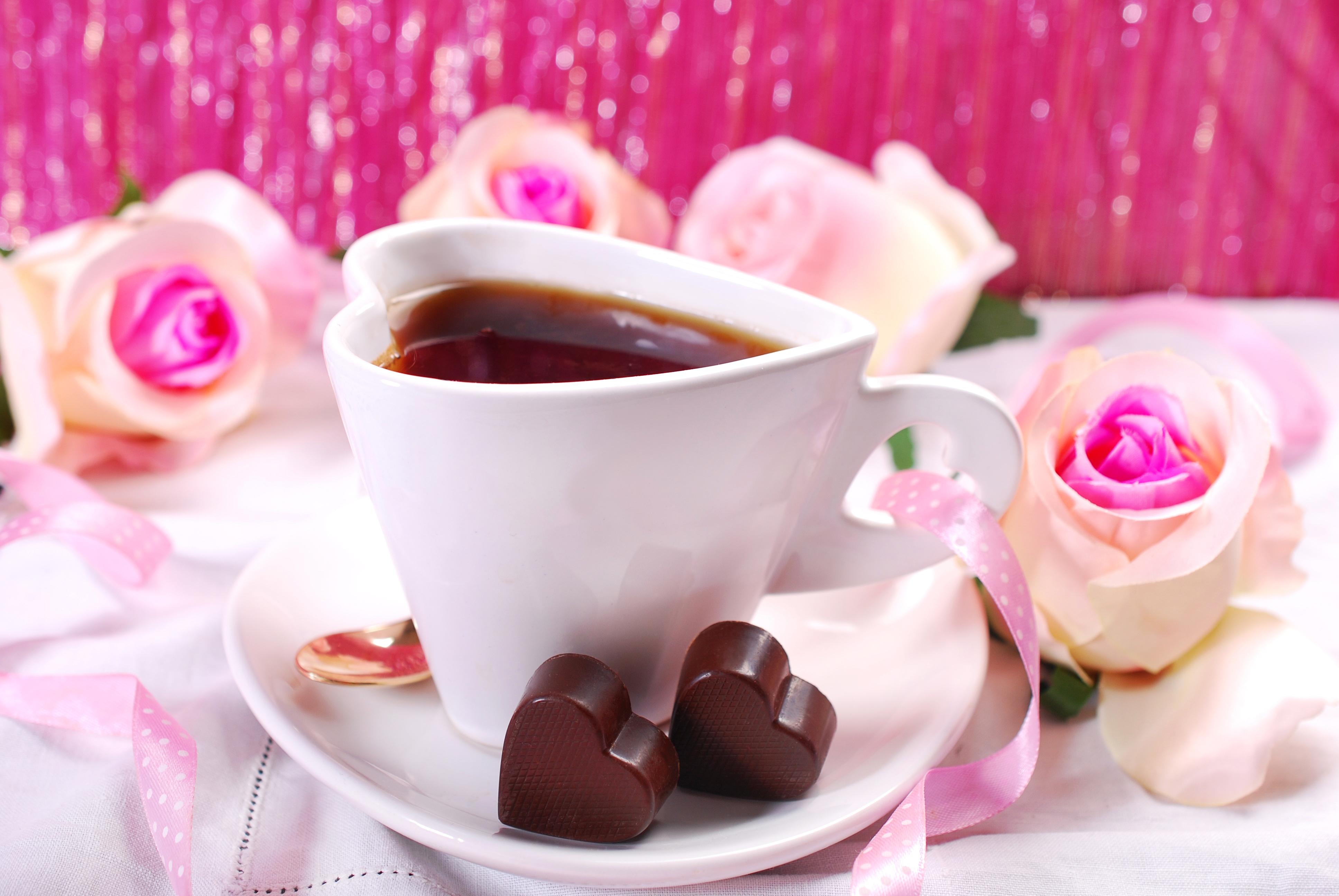 Открытки для, открытки с добрым утром цветы клубника и шоколад