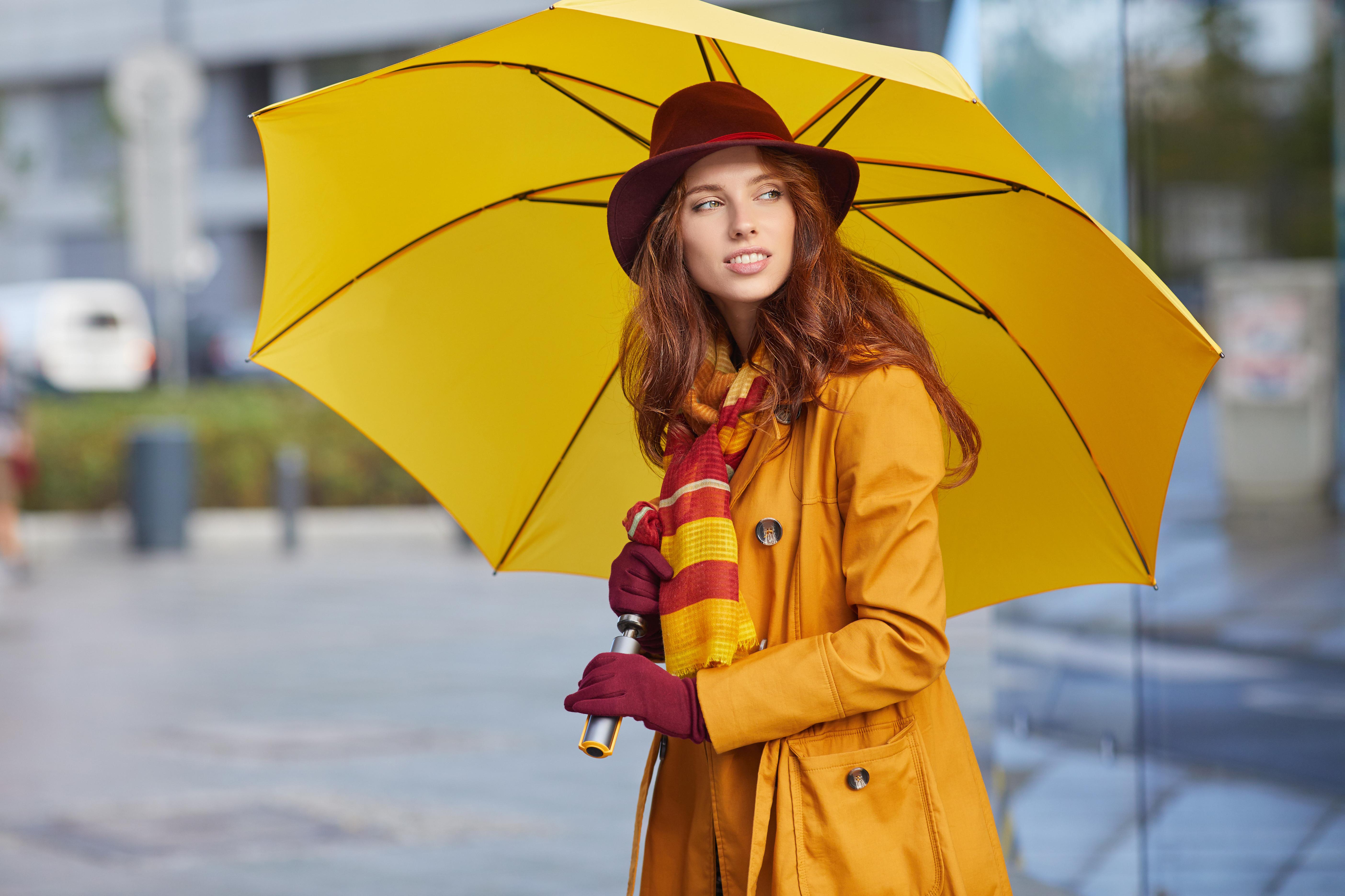 Картинка девушка осень зонтик