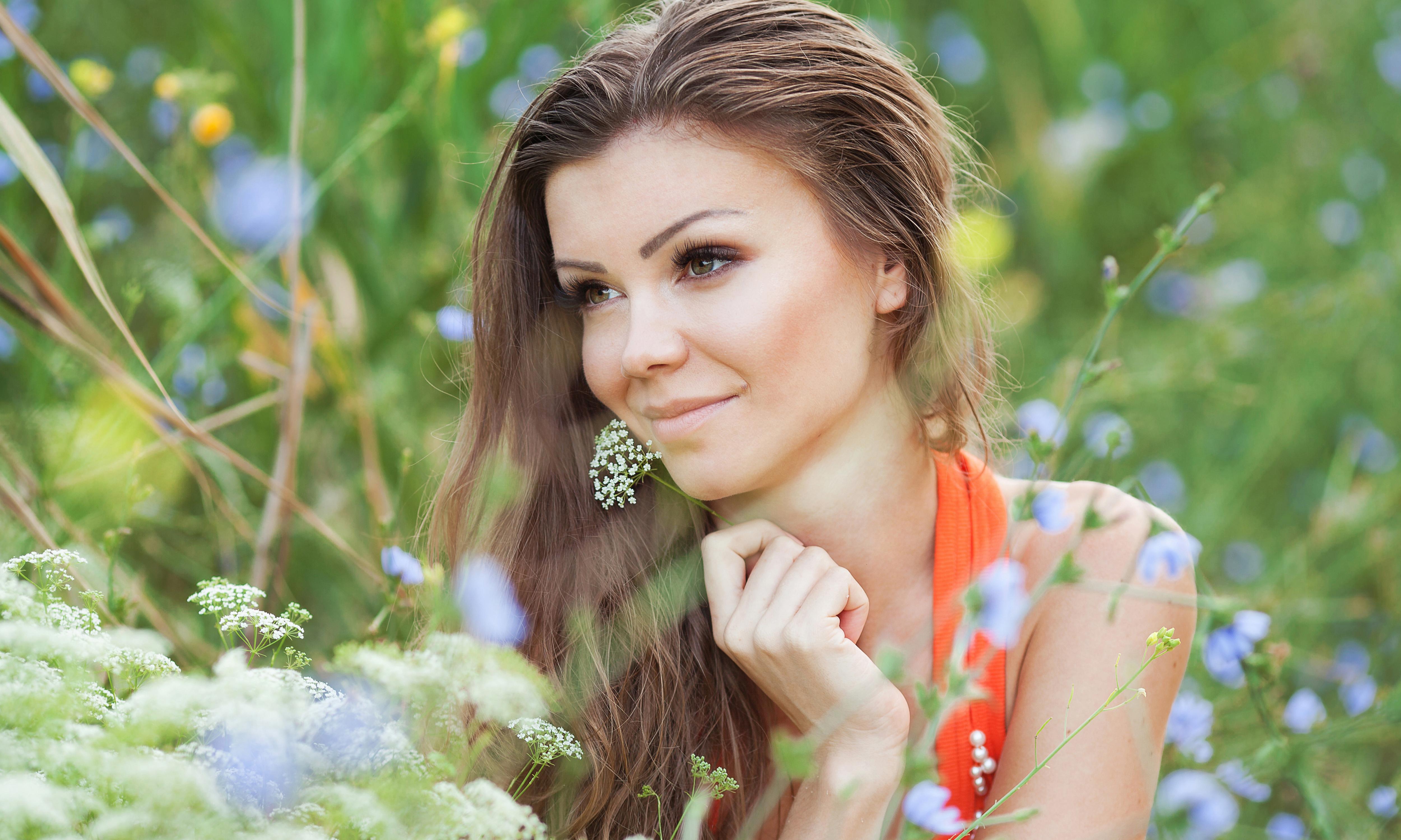 Красивые картинки женщин на природе