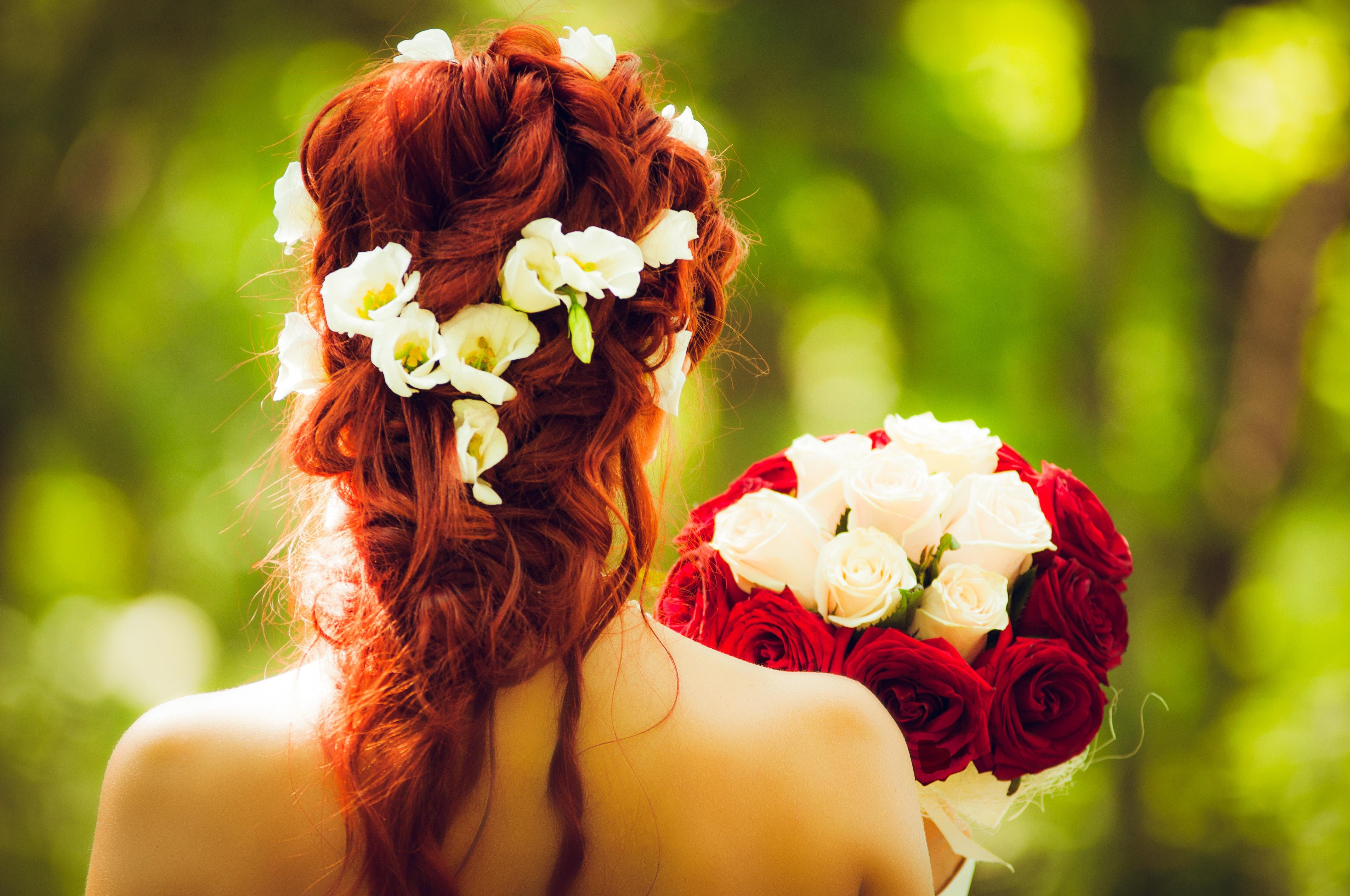 Картинки цветок в волосах