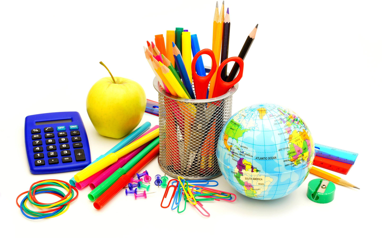 Школьные предметы в картинках, открытка для