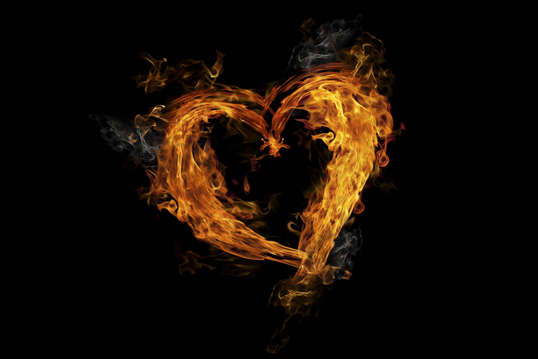 Сердце горящее картинки