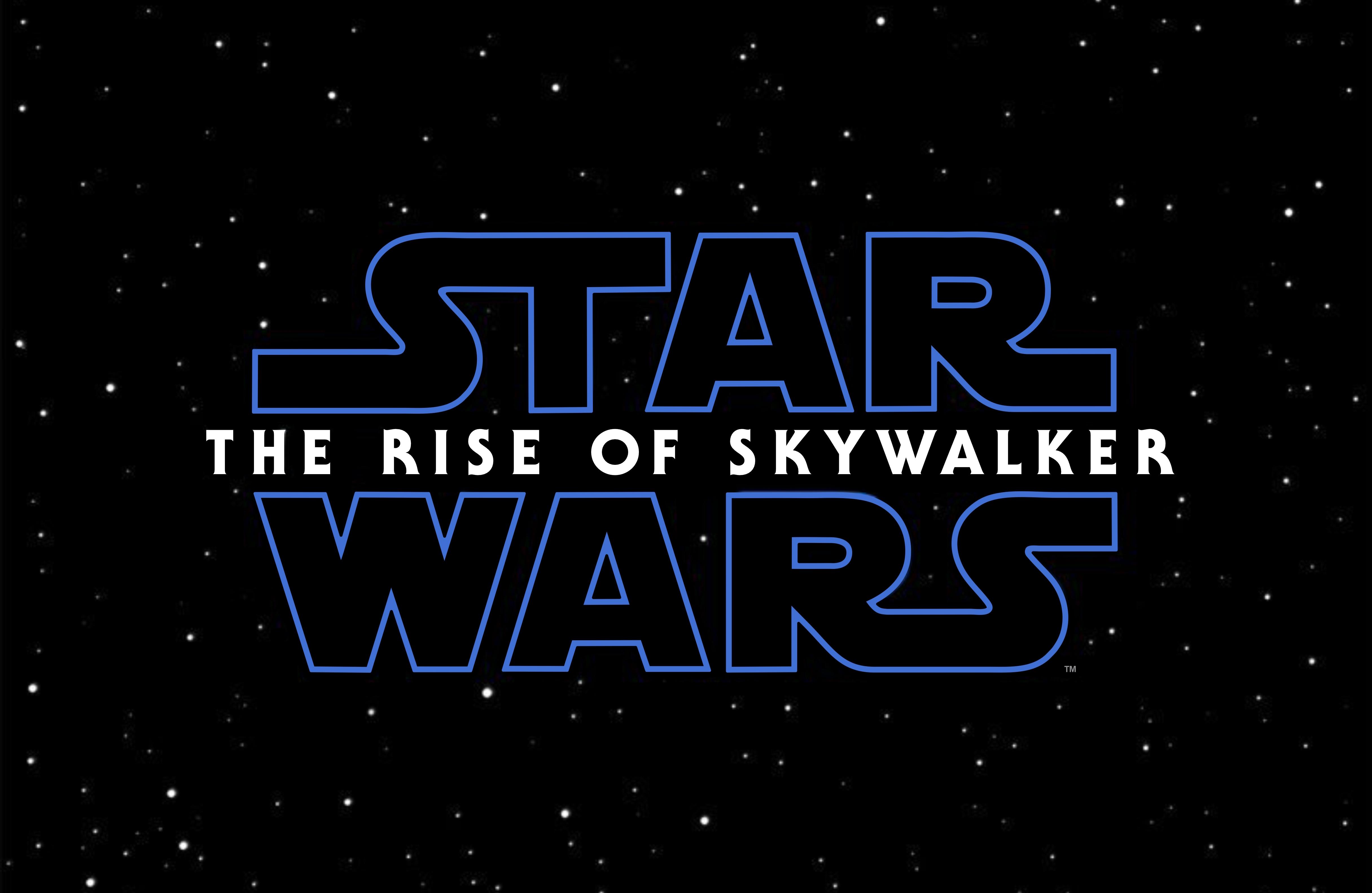 Star Wars Movie Logo Episode Ix On A Black Background Wallpapers