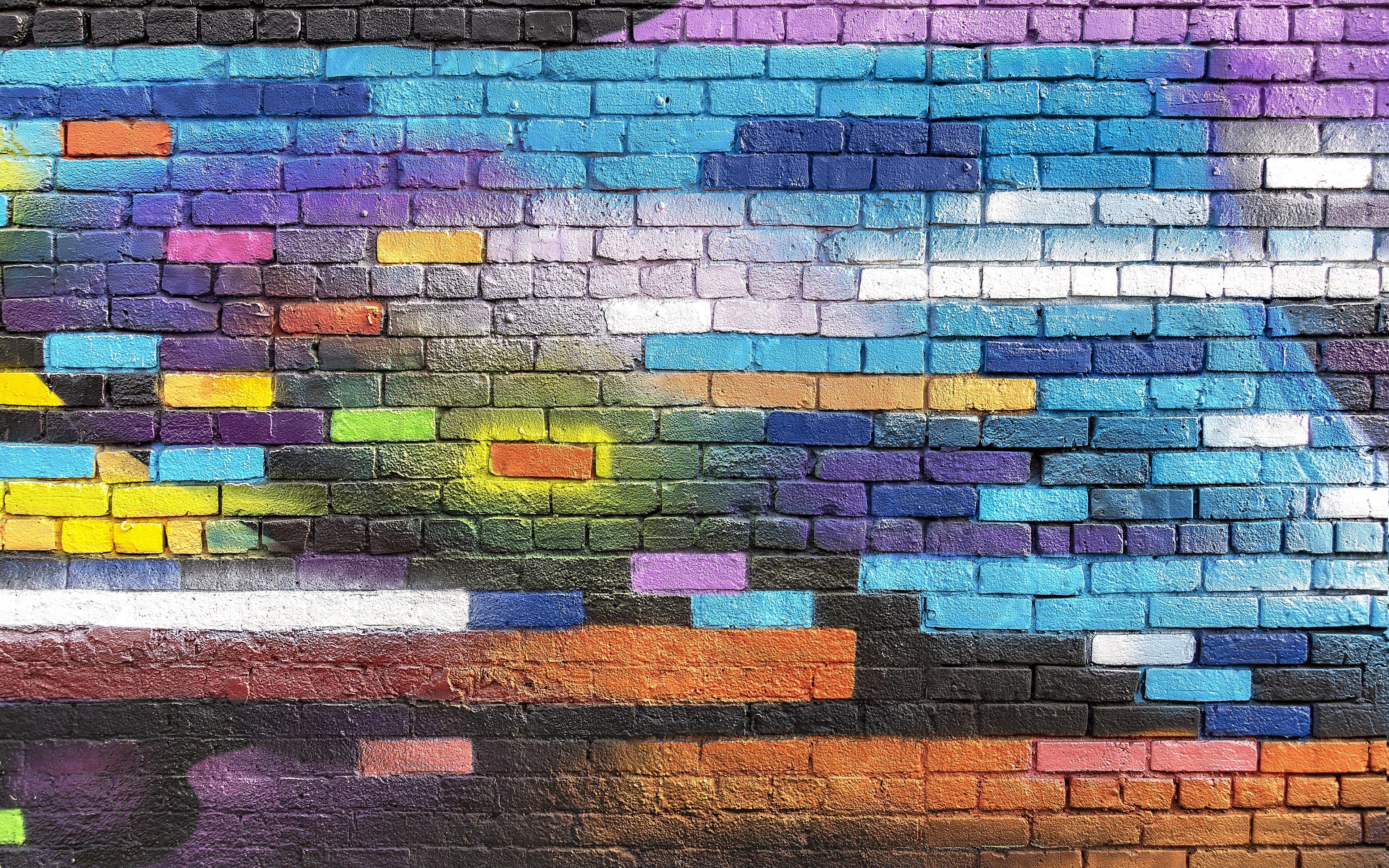 образе кирпичная стена рисунок красками осуществляет