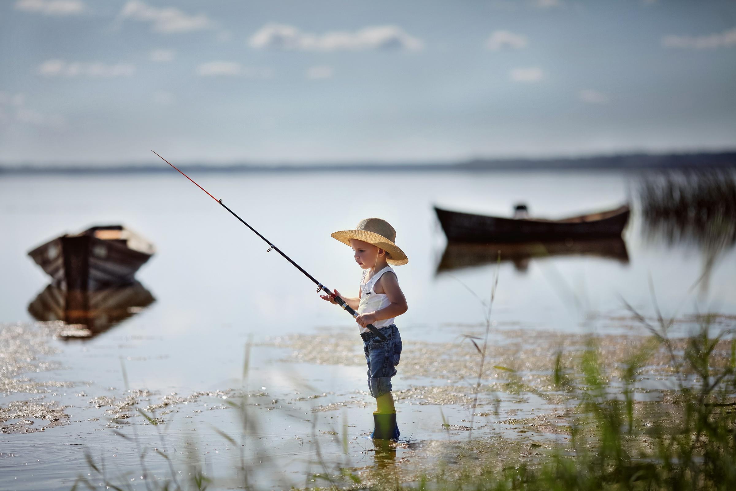 картинка ловят рыбу захватило непередаваемое